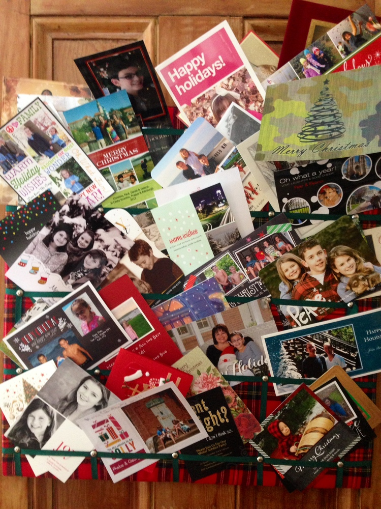 Memory Lane of Christmas Cards
