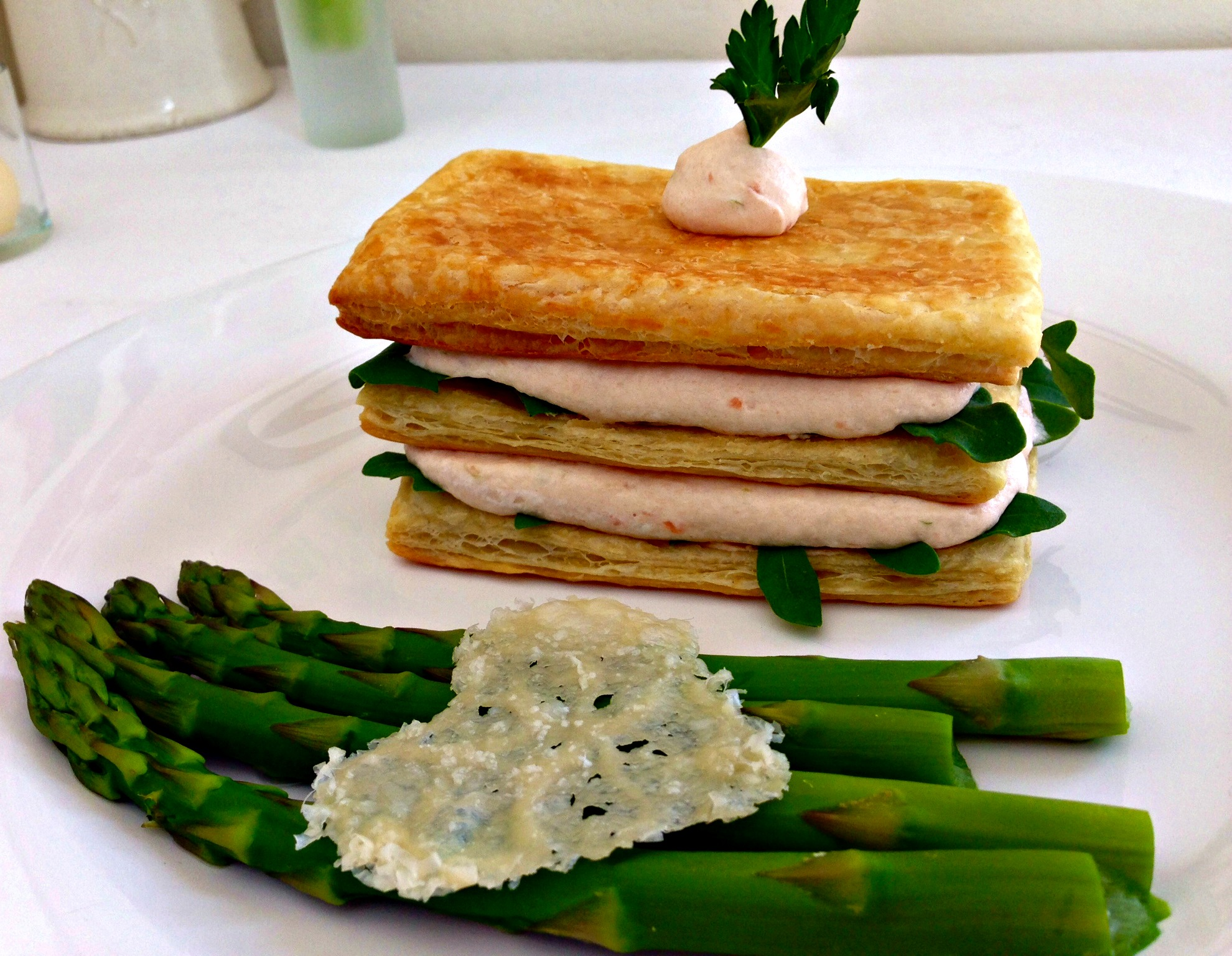 Smoked Salmon Mousse Napoleon
