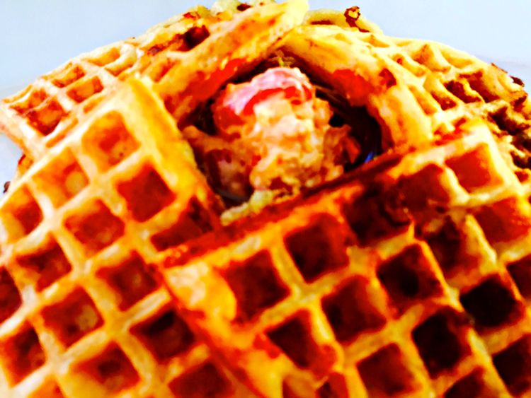 Pimento Cheese Waffles