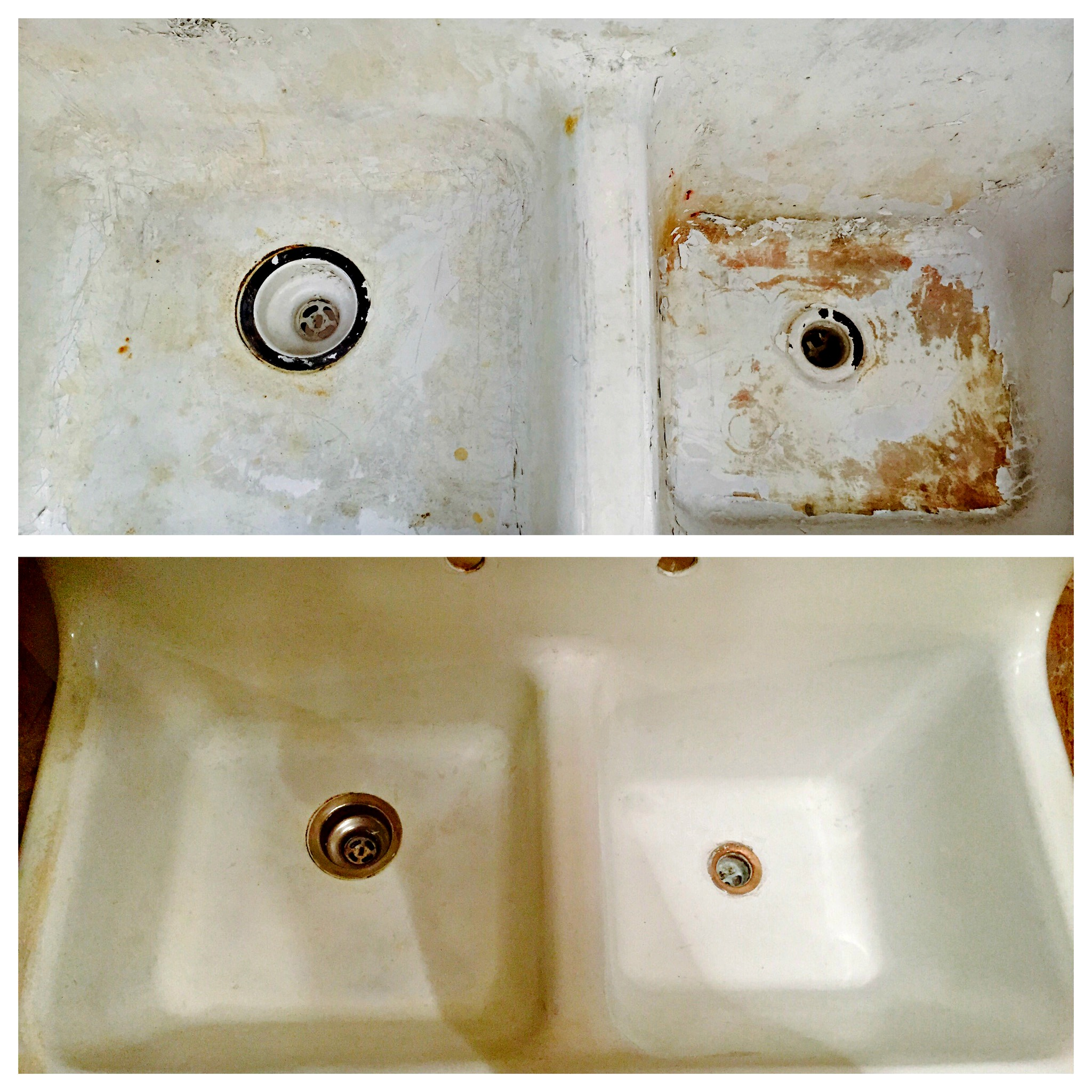 farmhouse-sink-restoration-during