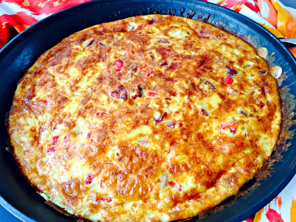 Chorizo & Garlic Cheese Frittata