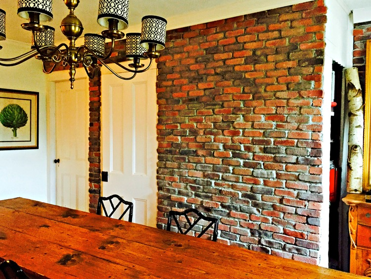 Completed DIY Brick Wall