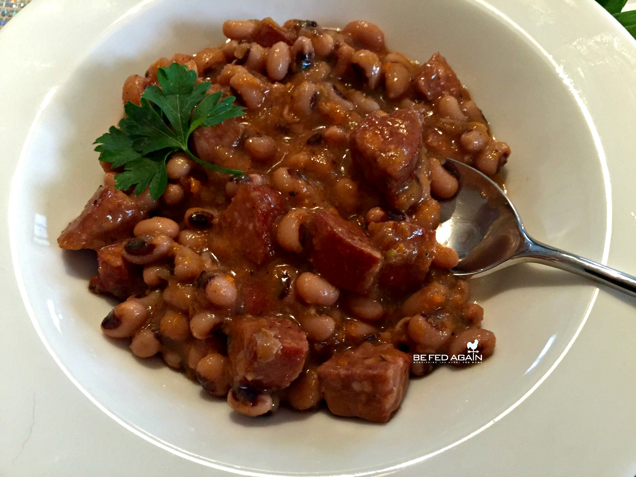 Black Eyed Peas with Chorizo Sausage