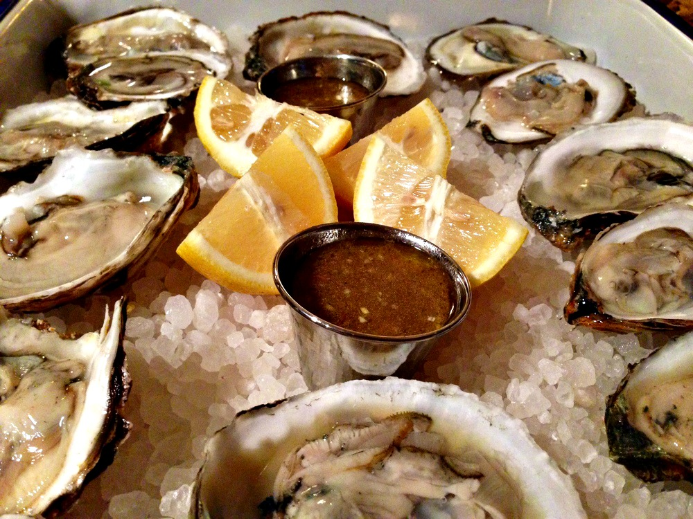 Raw Oysters with Champagne Mignonette