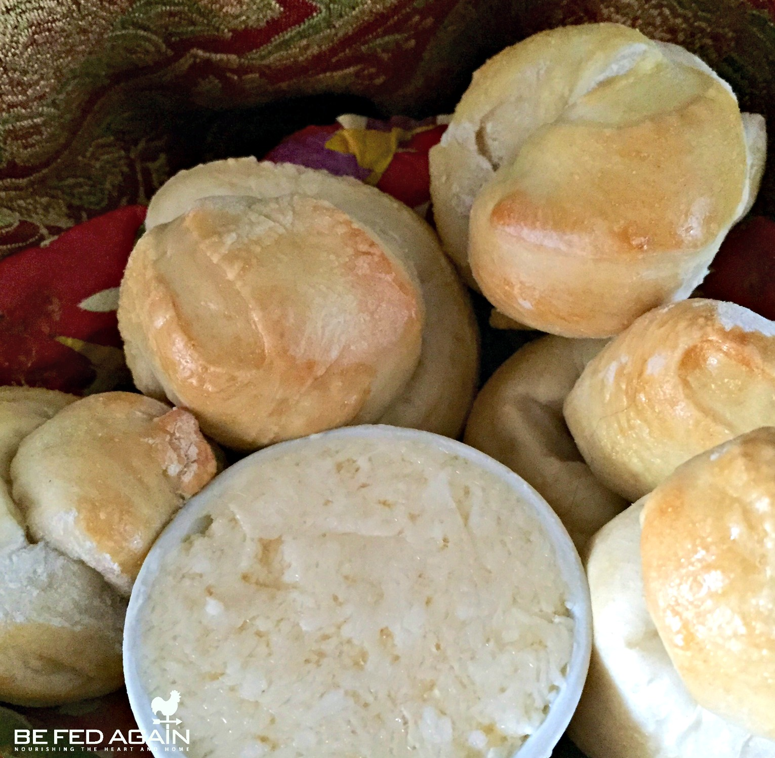 Dinner Rolls With Apple Jelly Butter