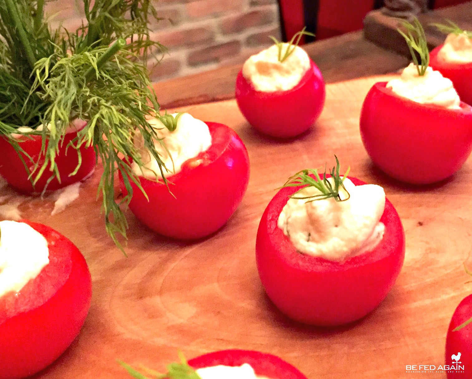 Herb Cheese Stuffed Tomatoes