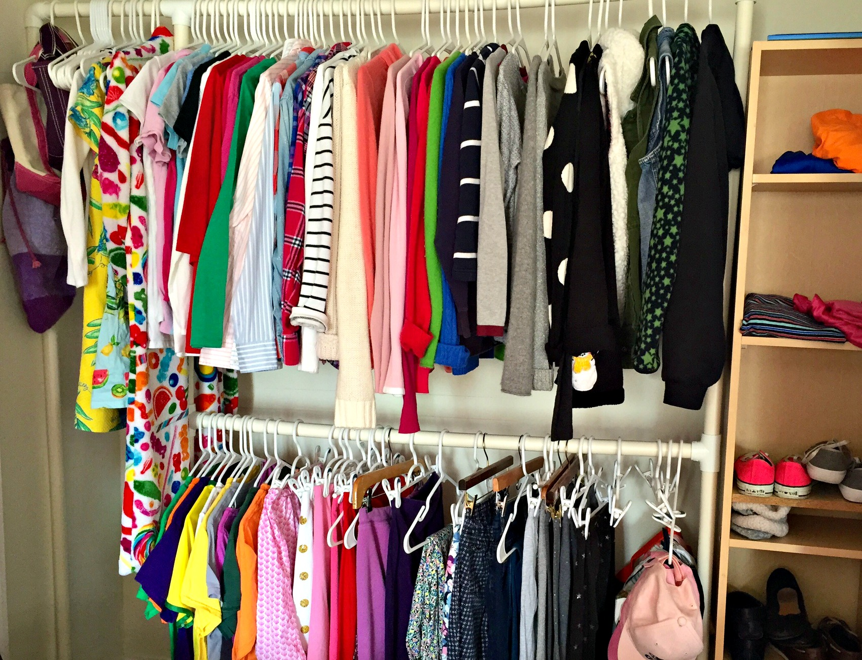 Inexpensive And Easy Closet Organization
