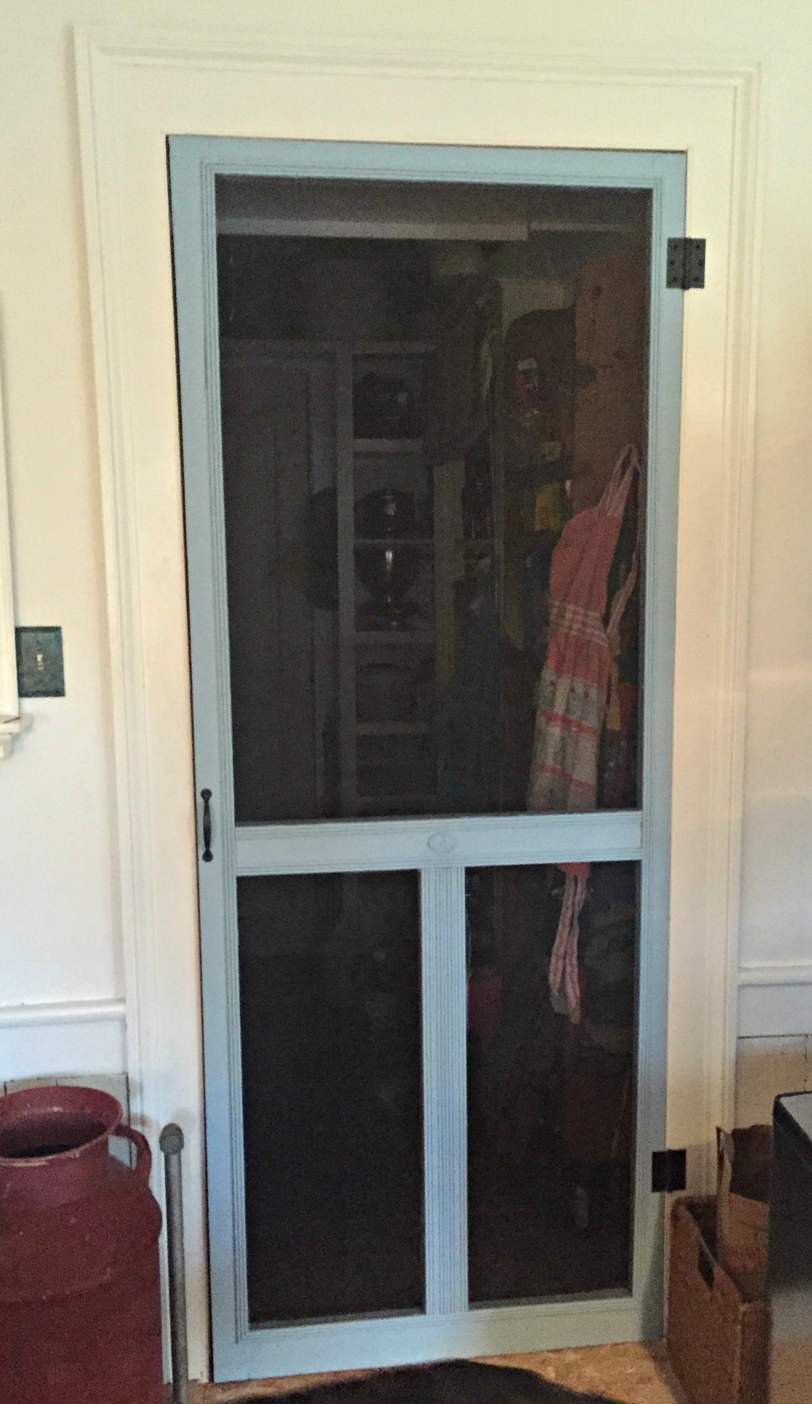 Porch To Pantry Screen Door Holds Court Inside