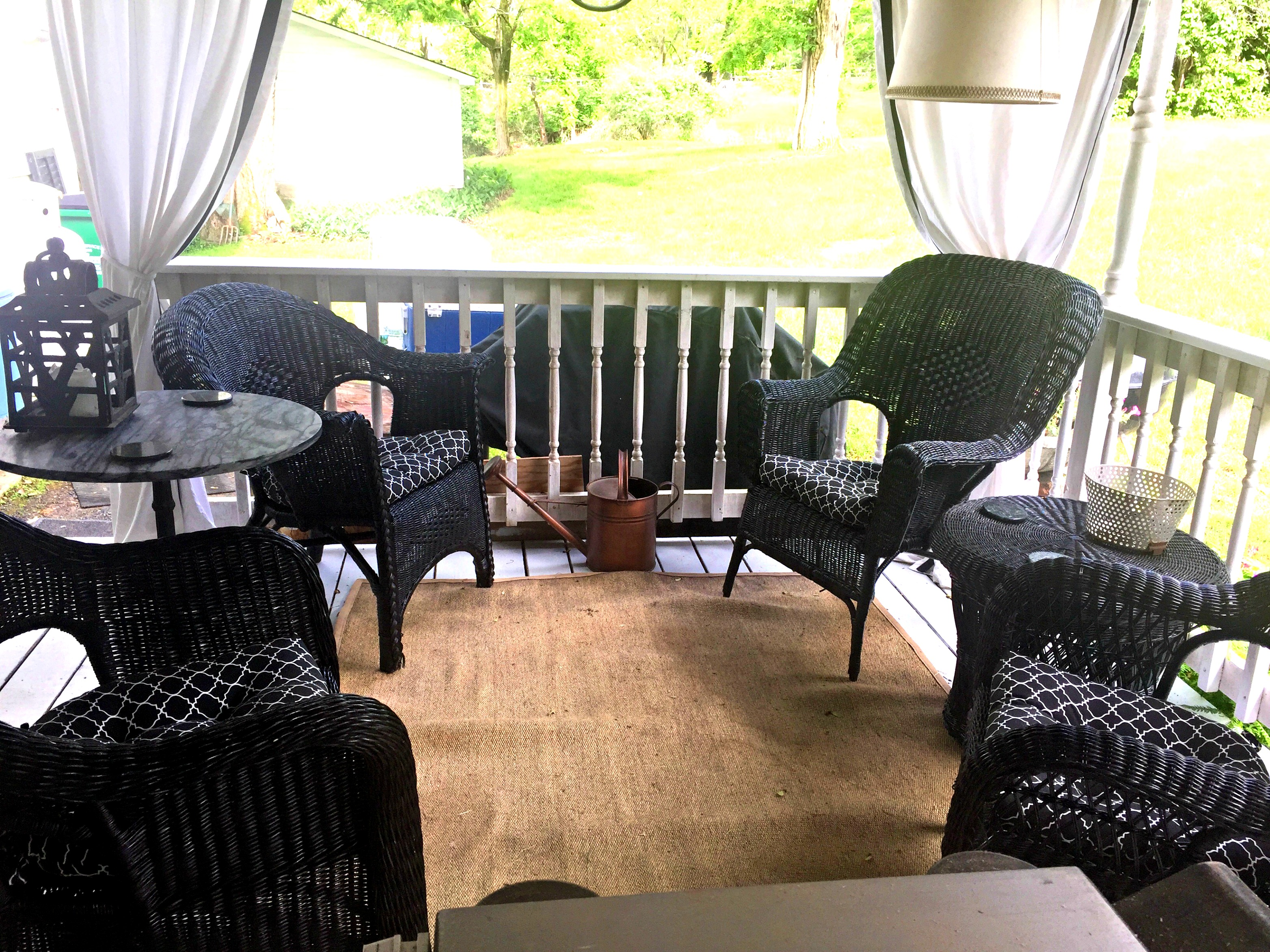 back porch after - seating area