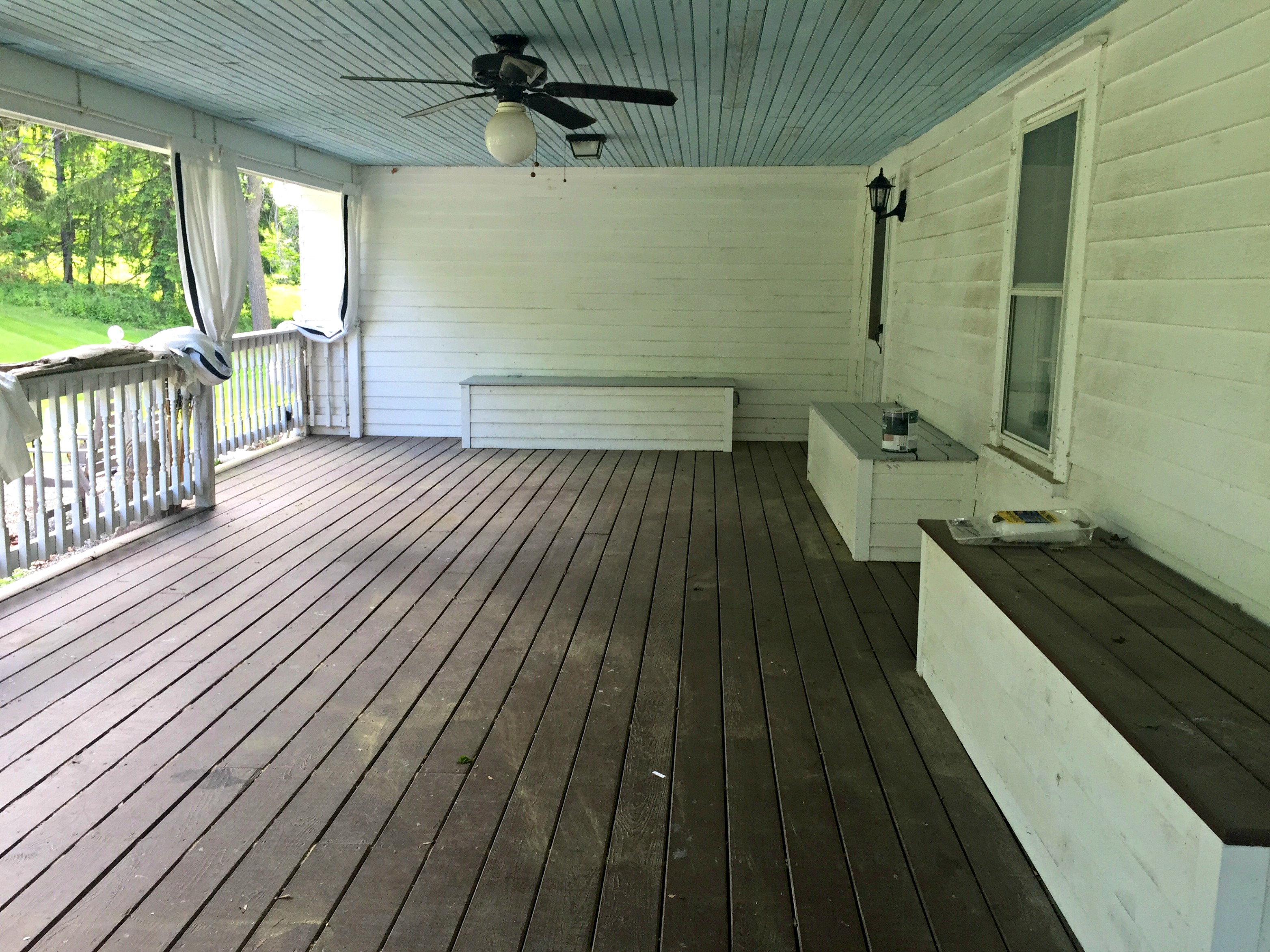 back porch - before