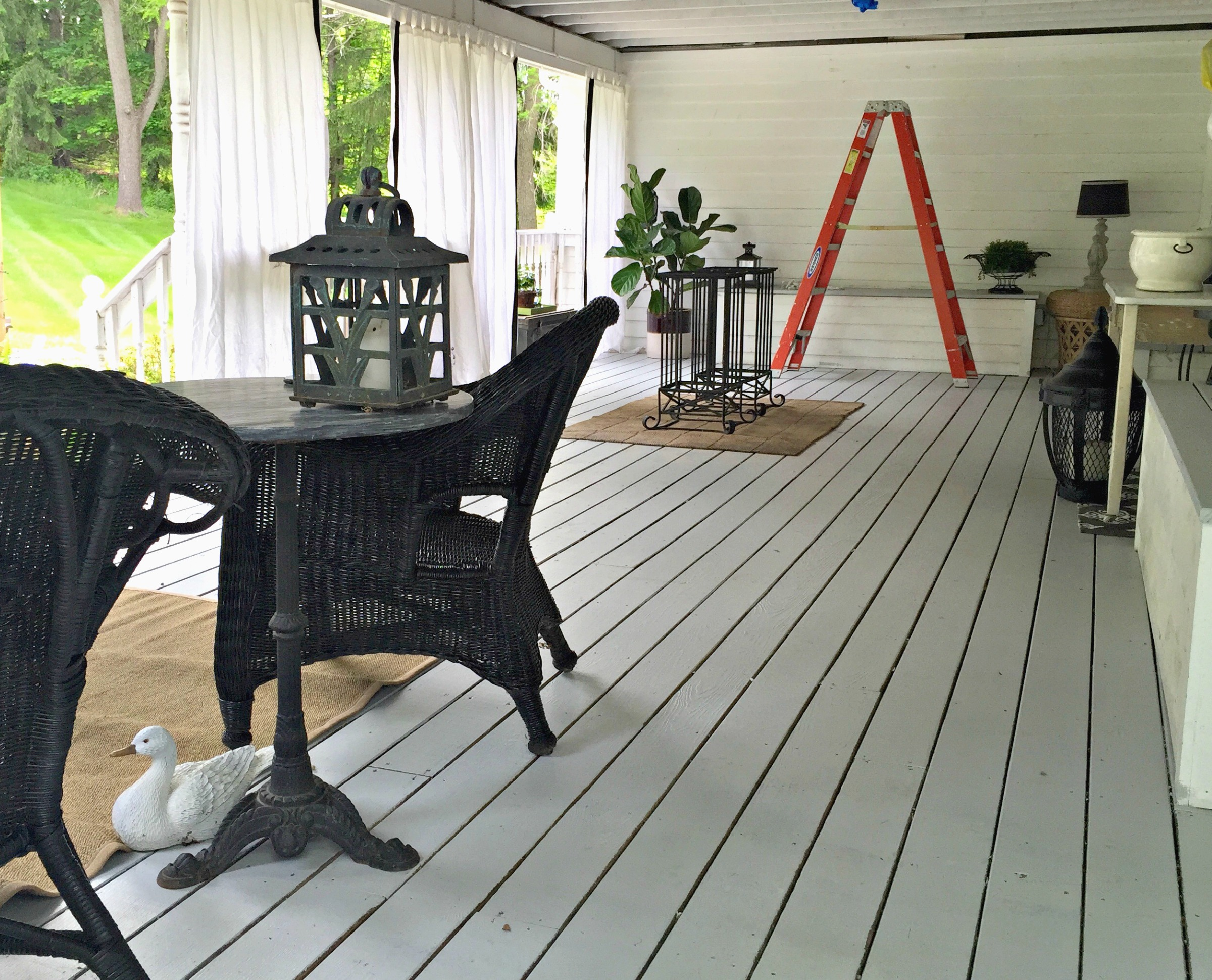back porch during