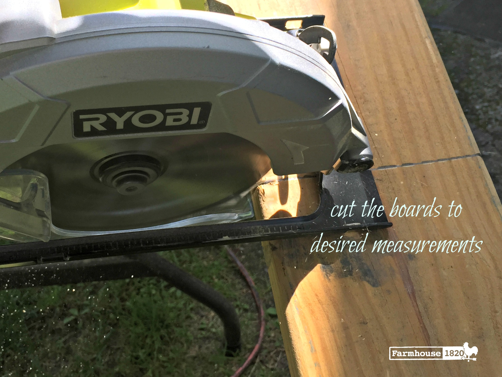 scrap wood table - DIY how to, Ryobi circular saw