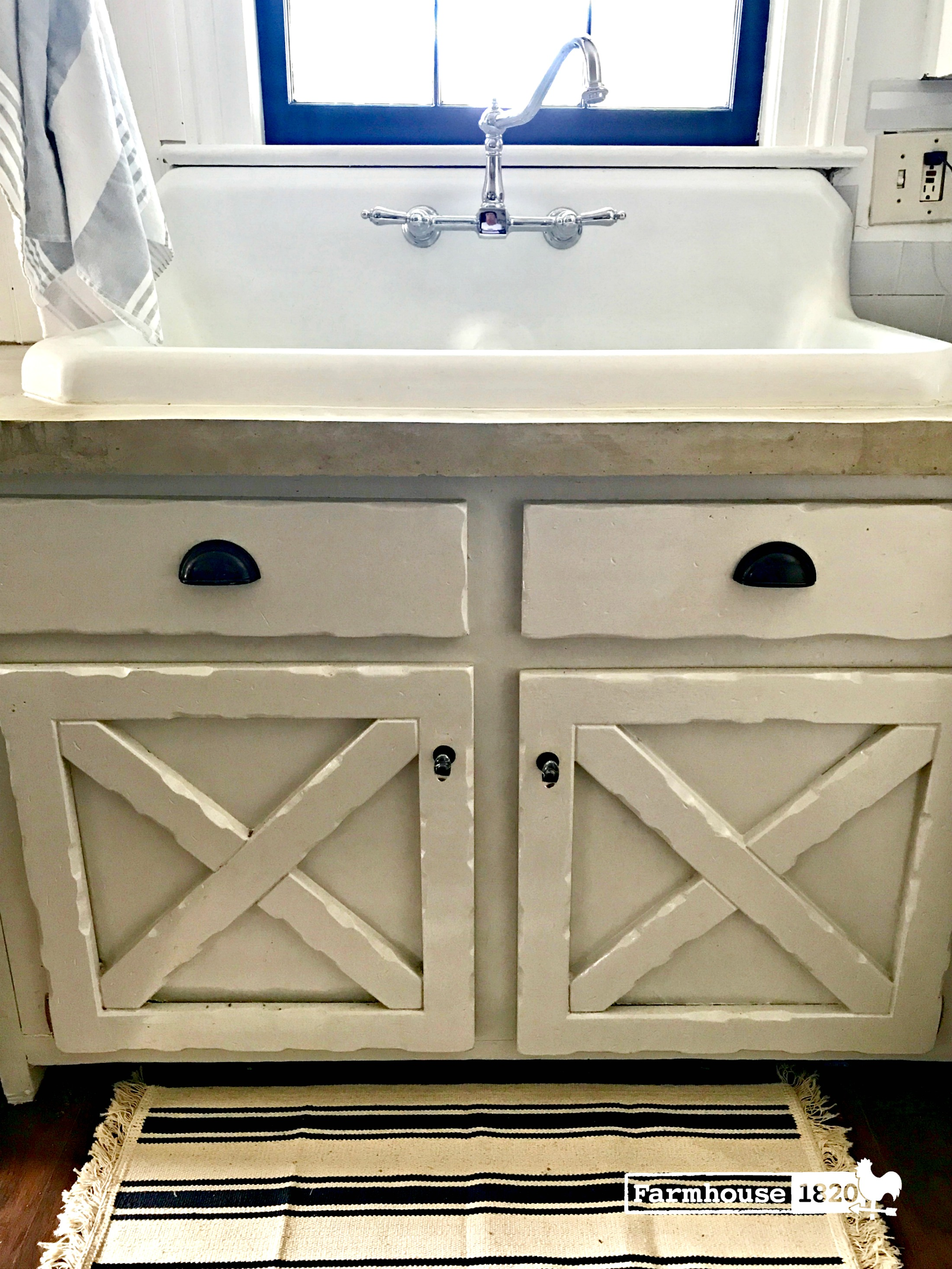 1940 farmhouse sink install at farmhouse 1820