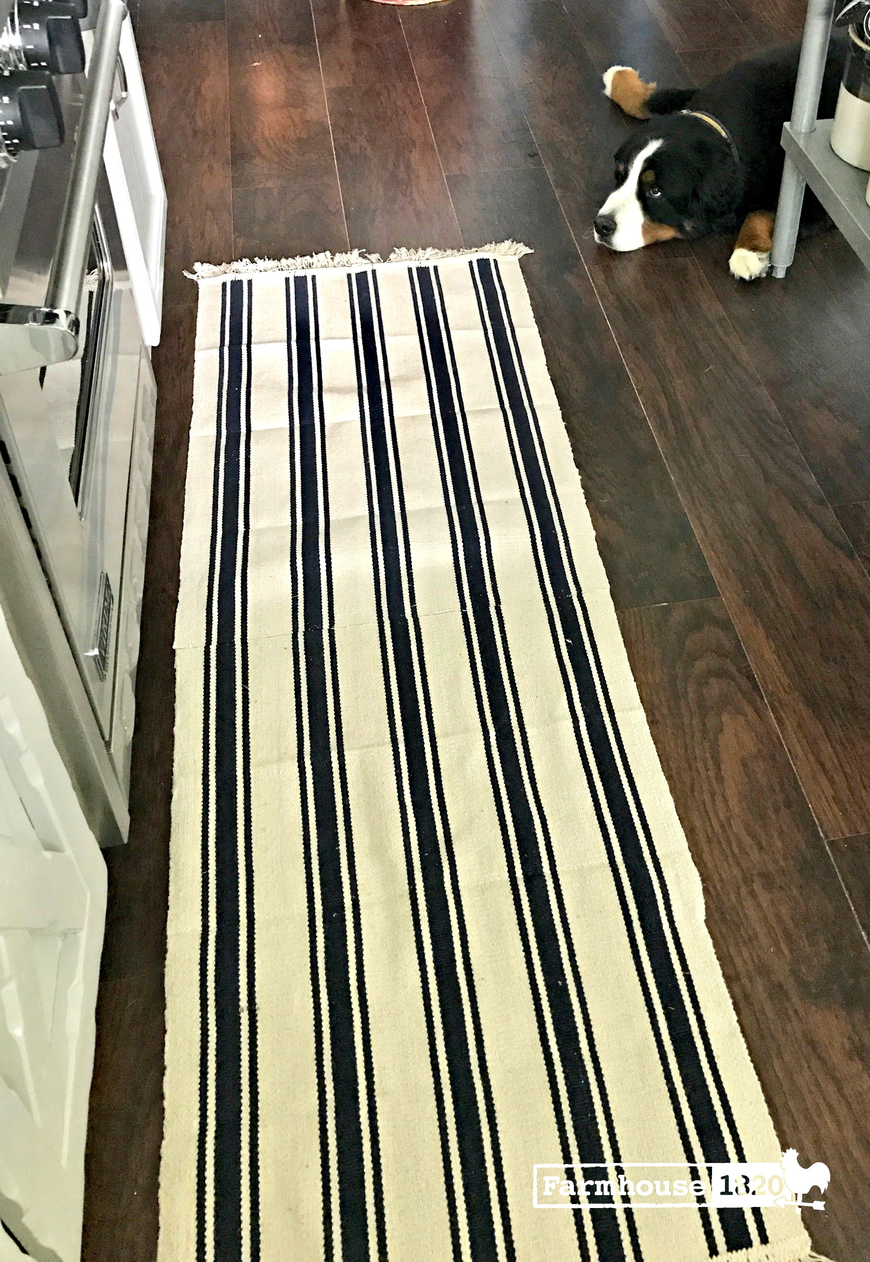DIY rug runner - budget friendly how to