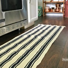 A Budget Friendly DIY Rug Runner