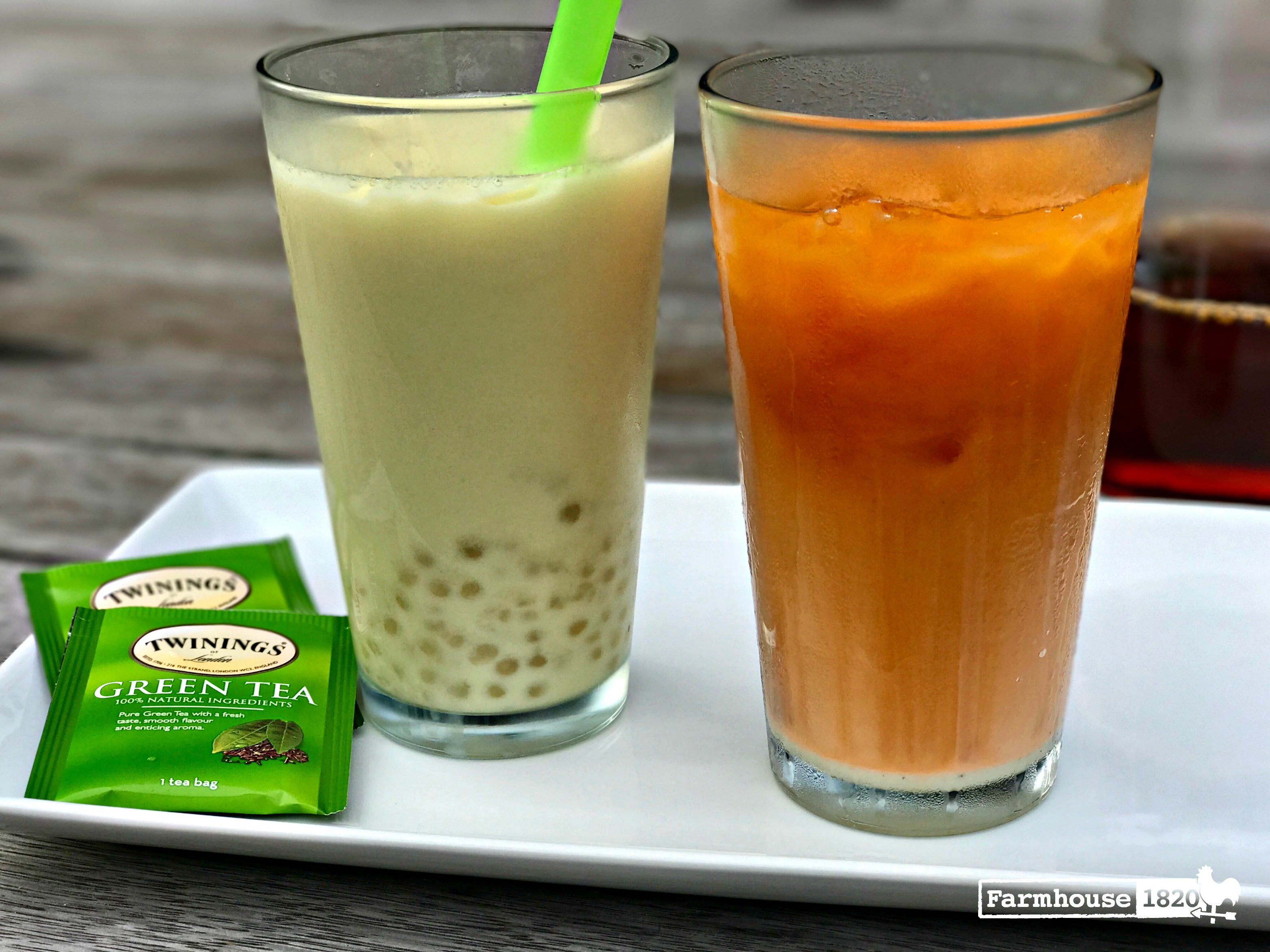 Thai Sweet Tea and Green Bubble Tea