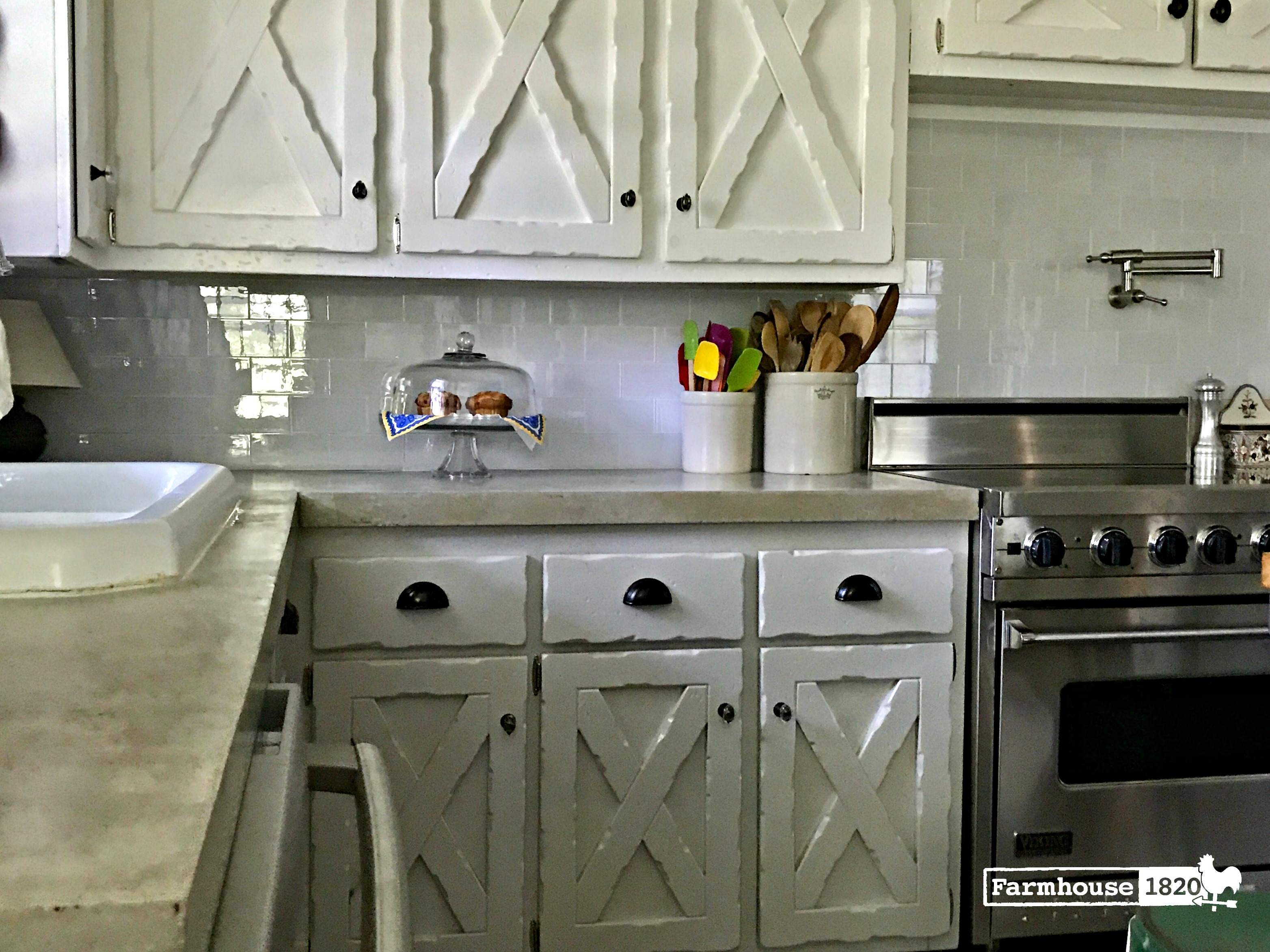 The Complete Kitchen Reveal - Farmhouse 1820 on Farmhouse Counter Tops  id=52054