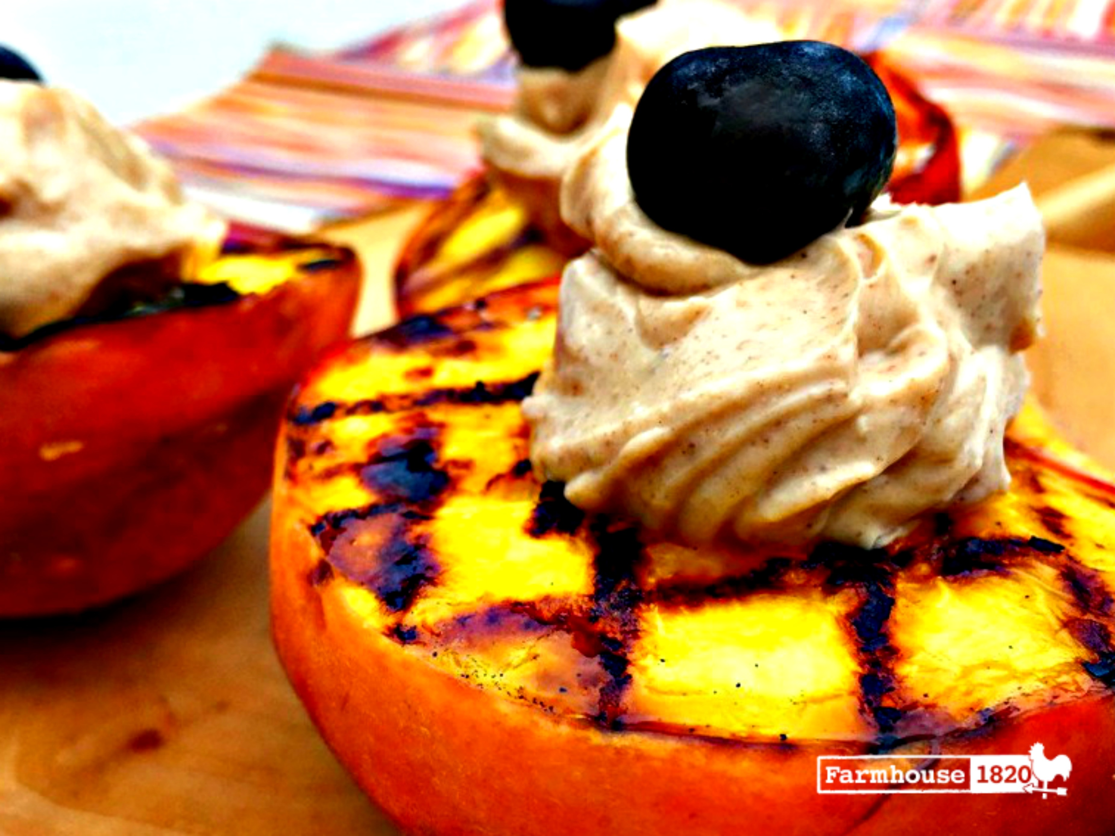 Grilled Peaches with Sweet Mascarpone