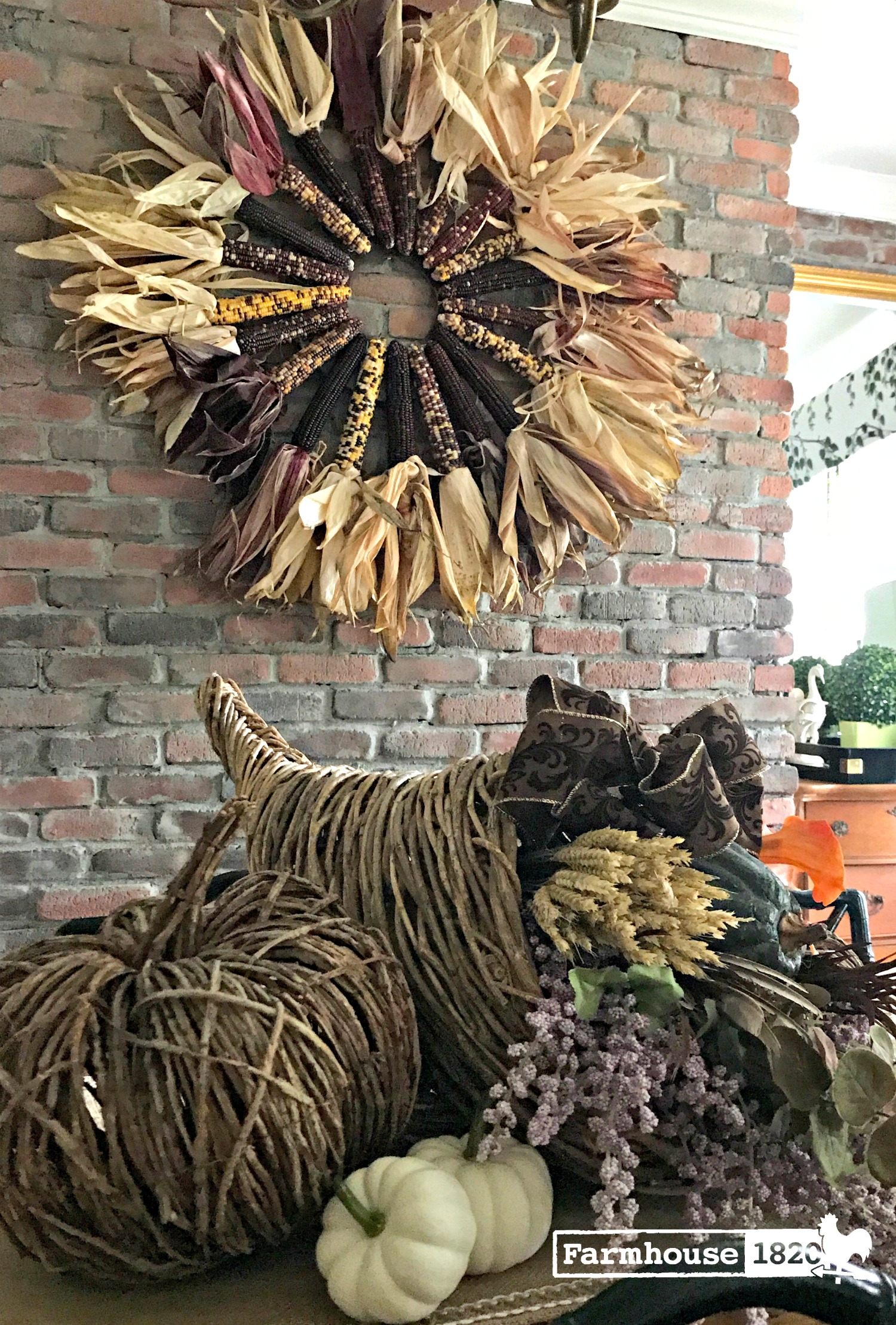 Indian corn - wreath is beautiful
