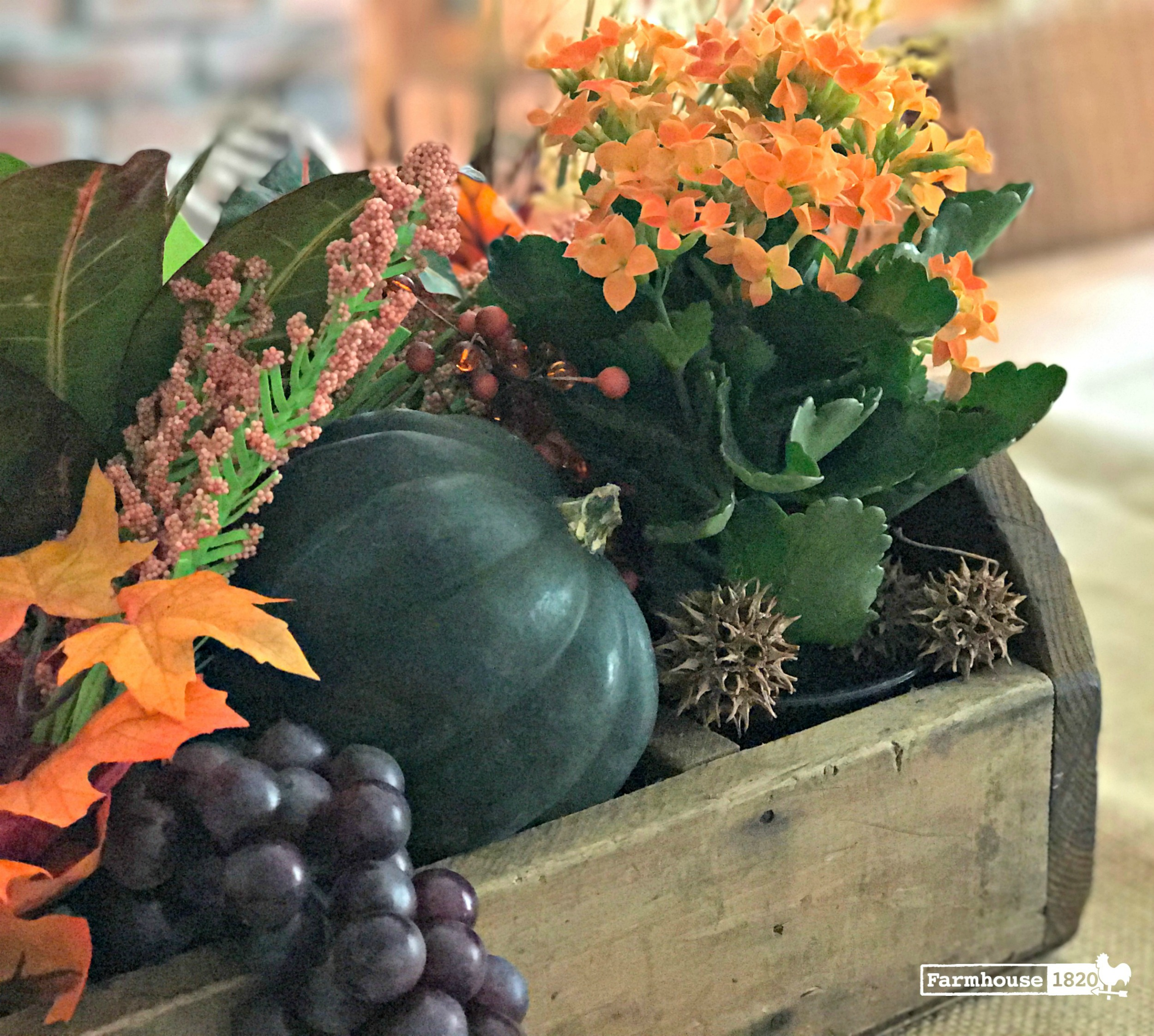 fall decorating - creating a vignette