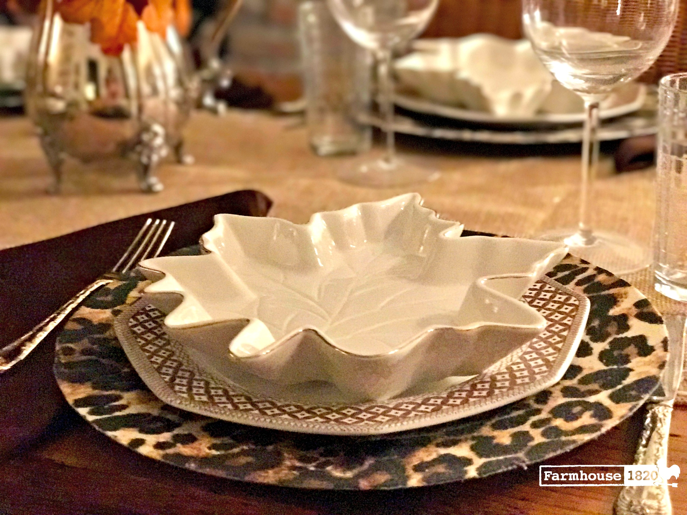fall home tour - a fall place setting