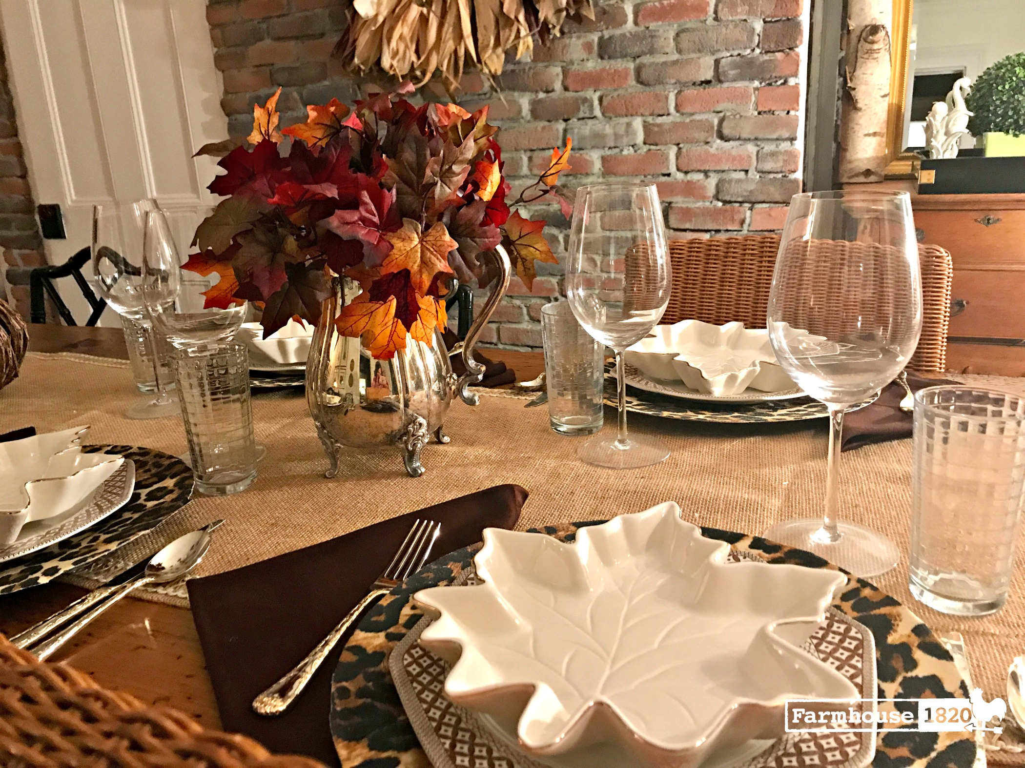 fall home tour - a fall tablesetting