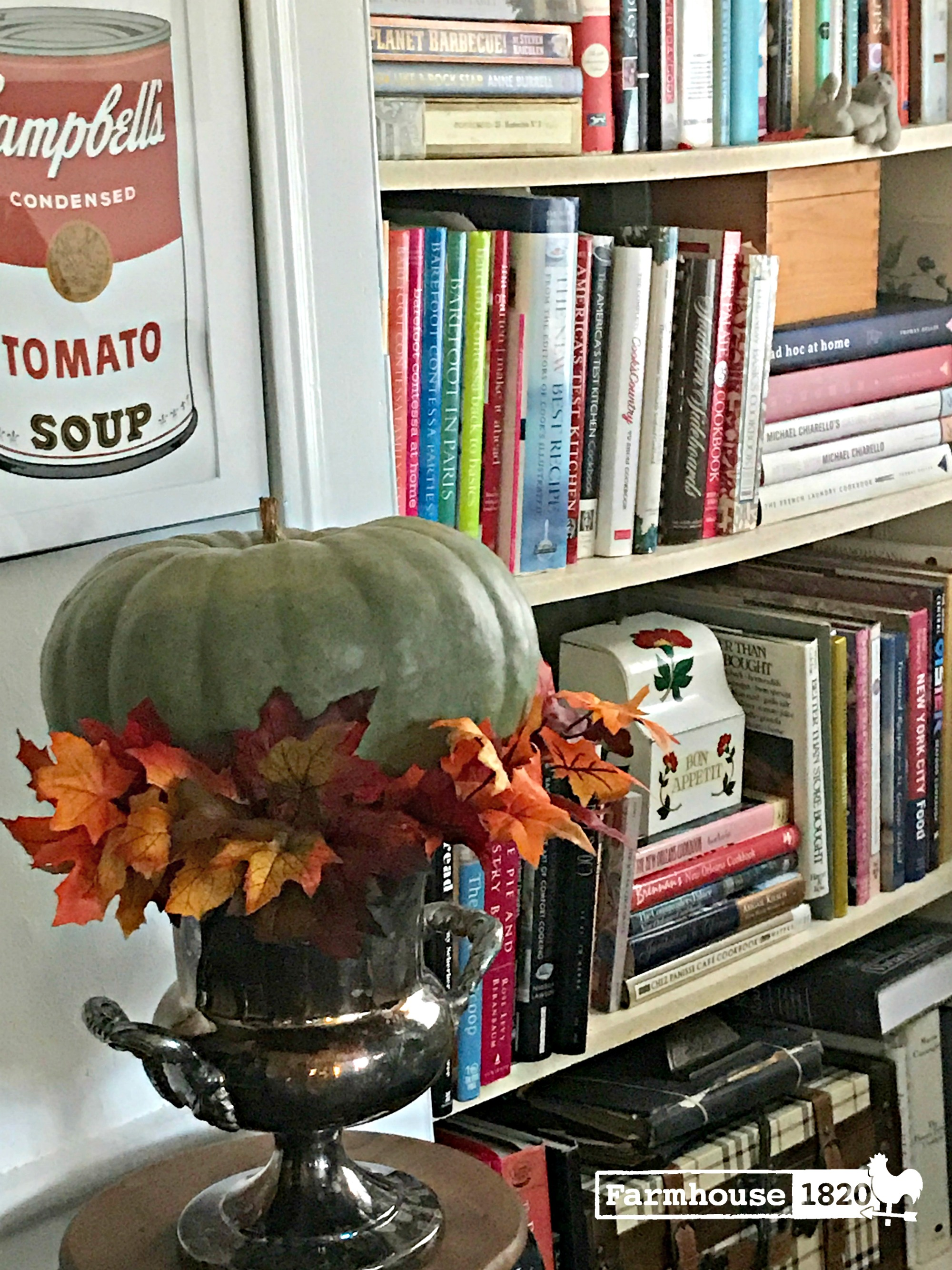 fall home tour - fall around the cookbooks