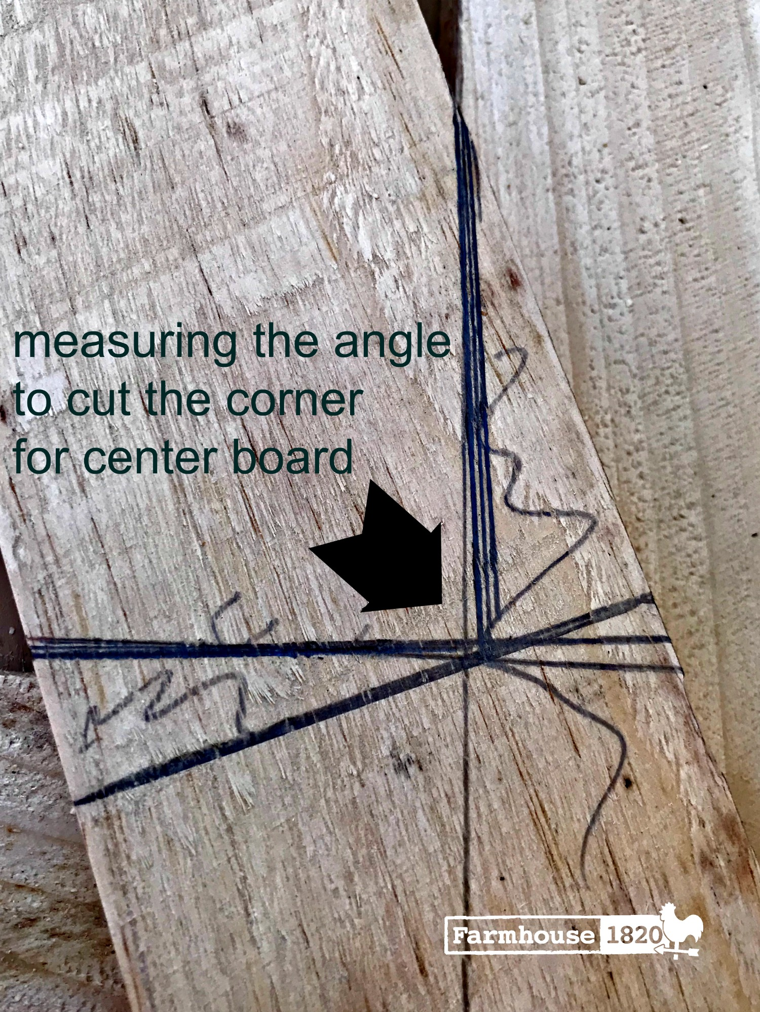 bard door - measuring and cutting the corners