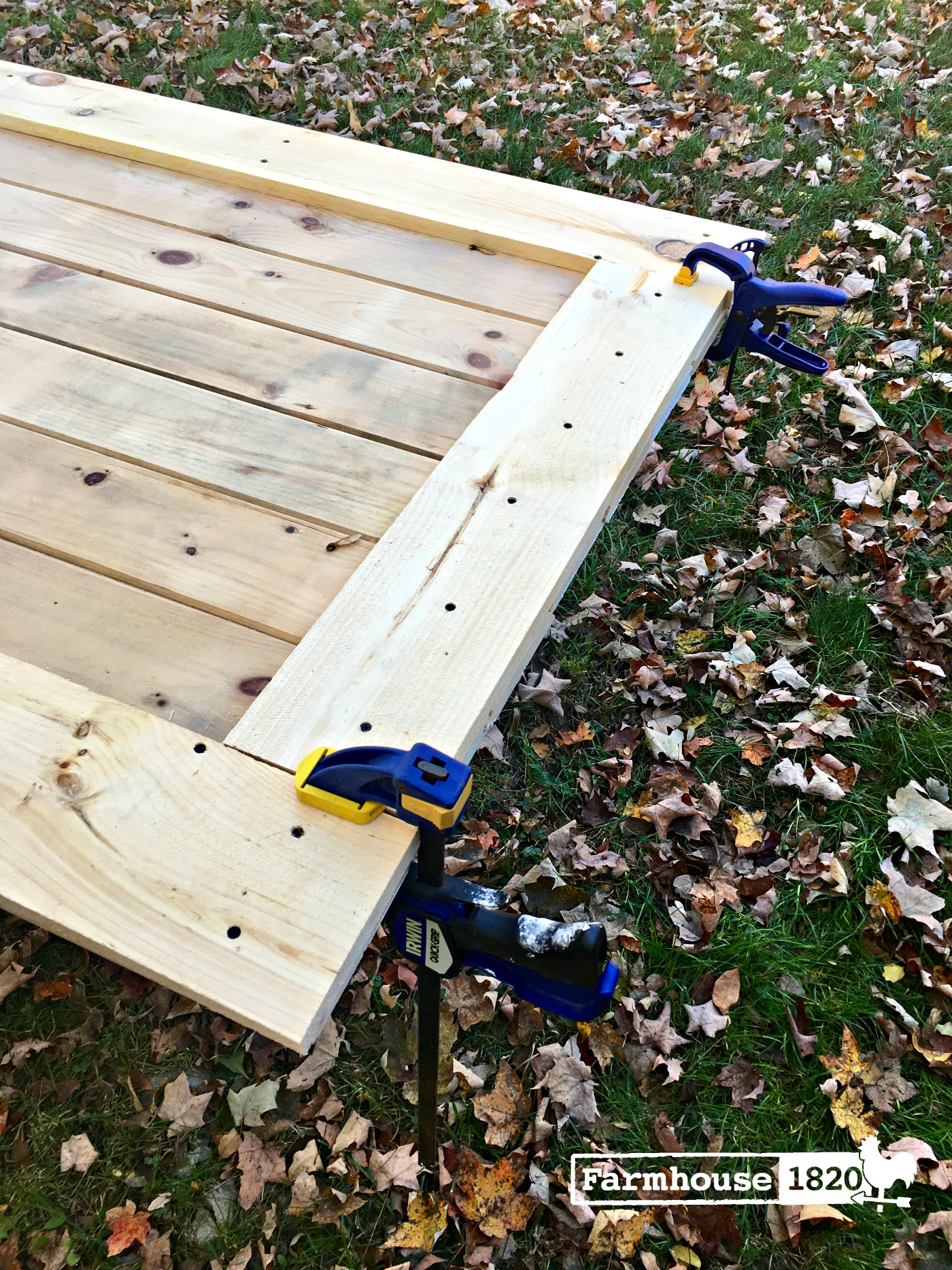 barn door - clamps keeps things together while it dries