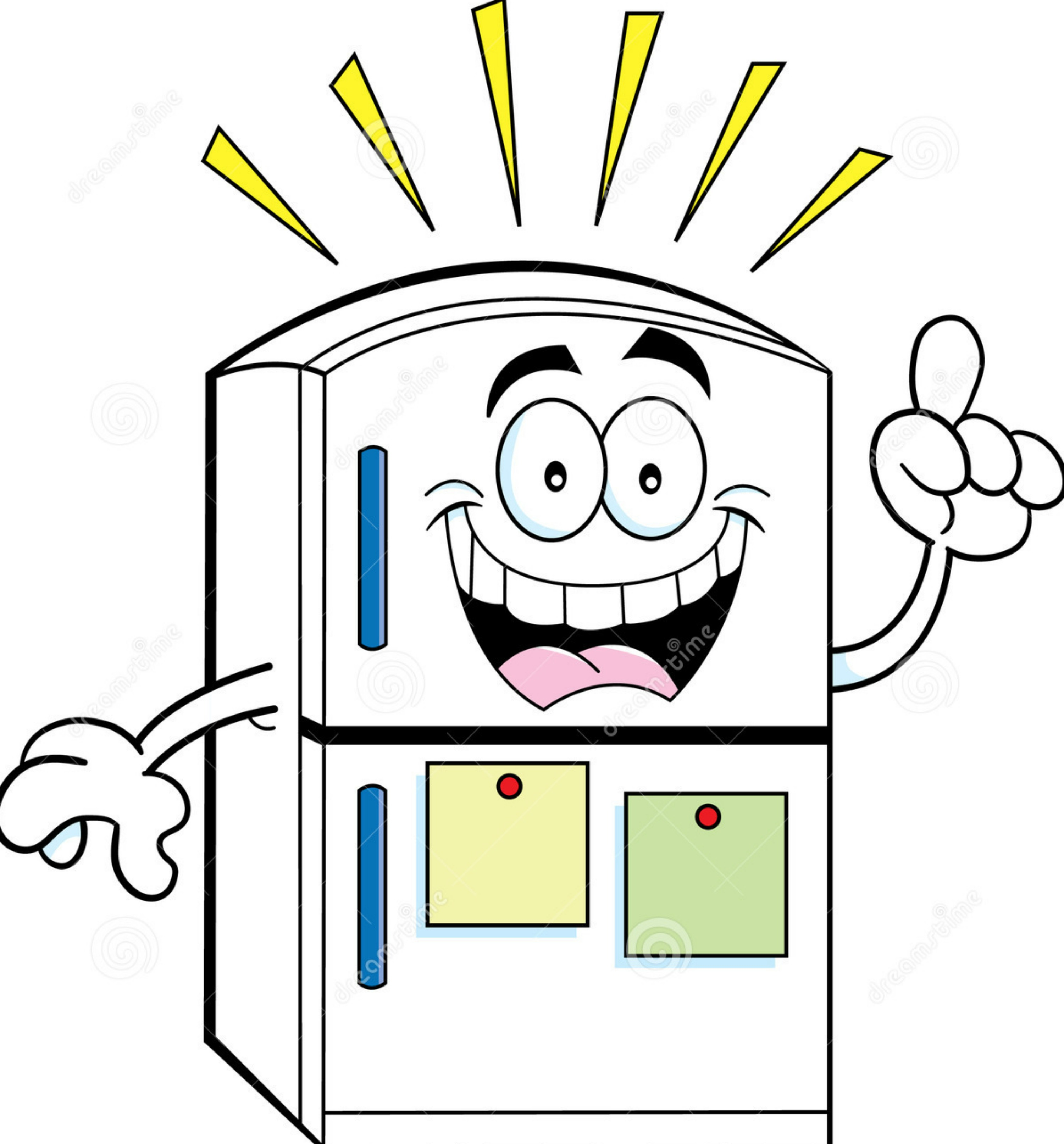 cartoon-refrigerator-idea-illustration