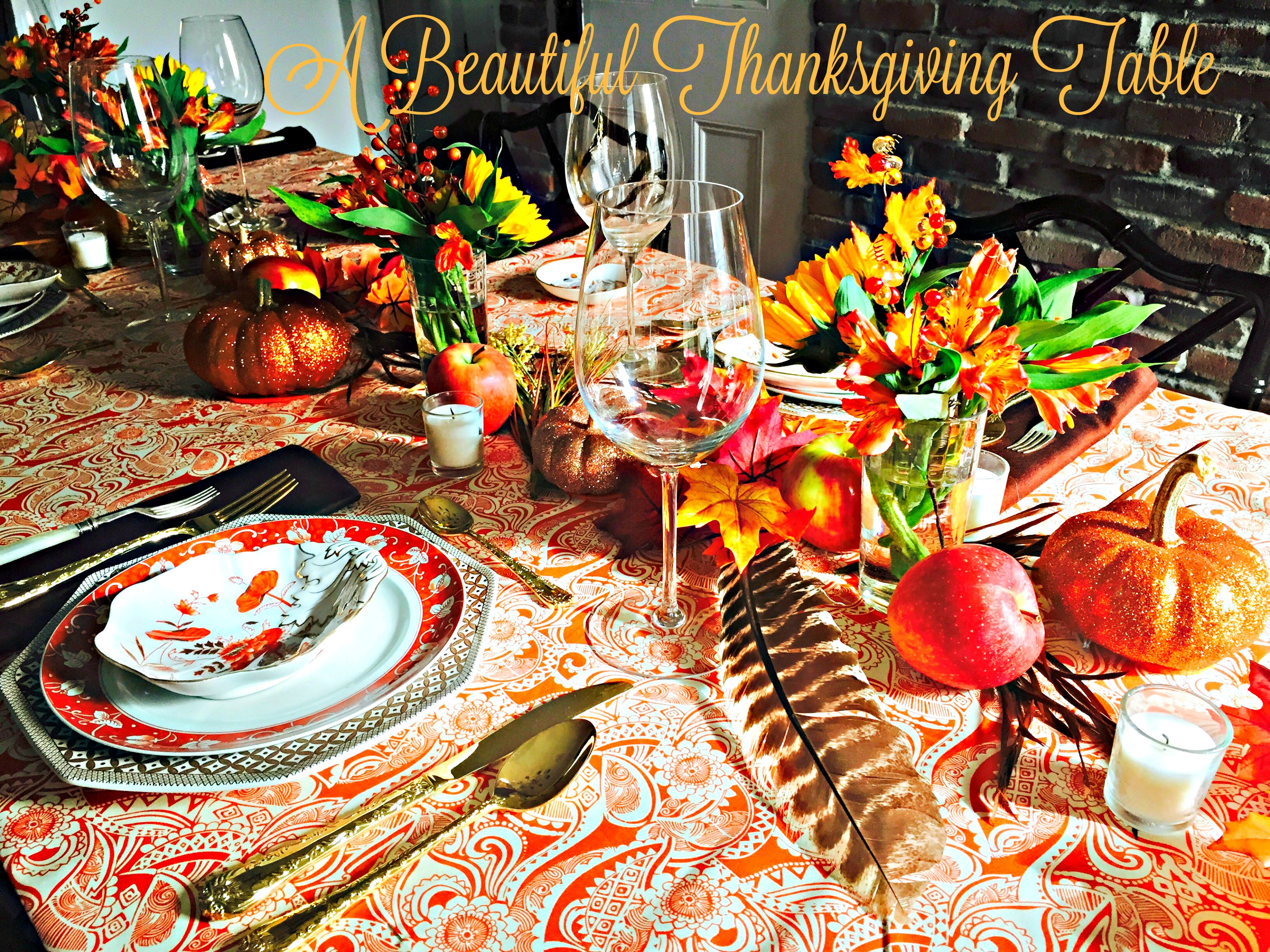 A Beautiful Thanksgiving table