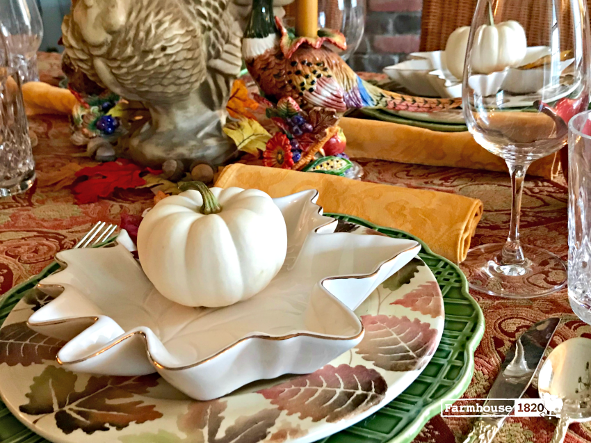 Thanksgiving tablesetting - mixing formal with casual