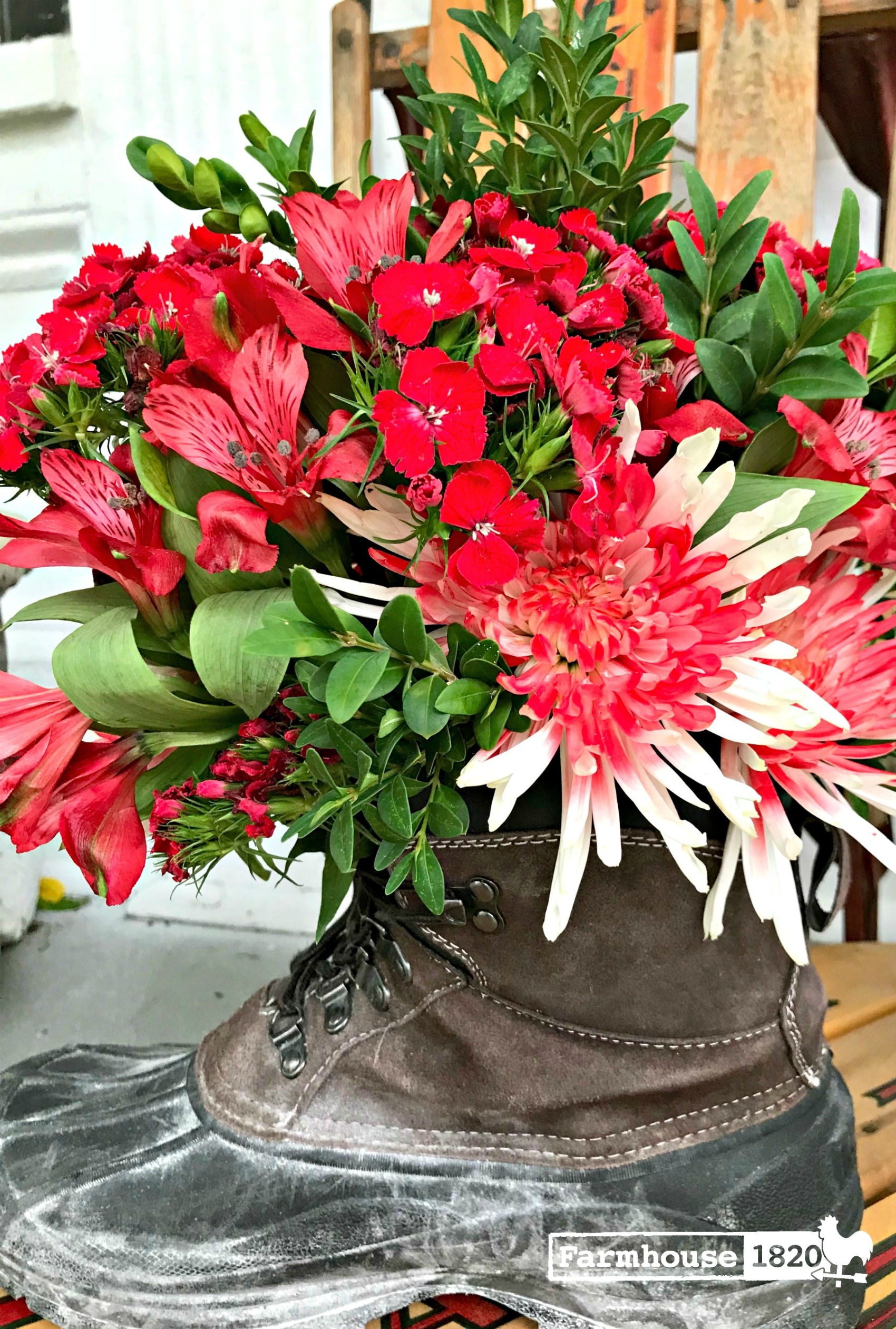 Who Knew An Old Boot Can Be A Stunning Vase!