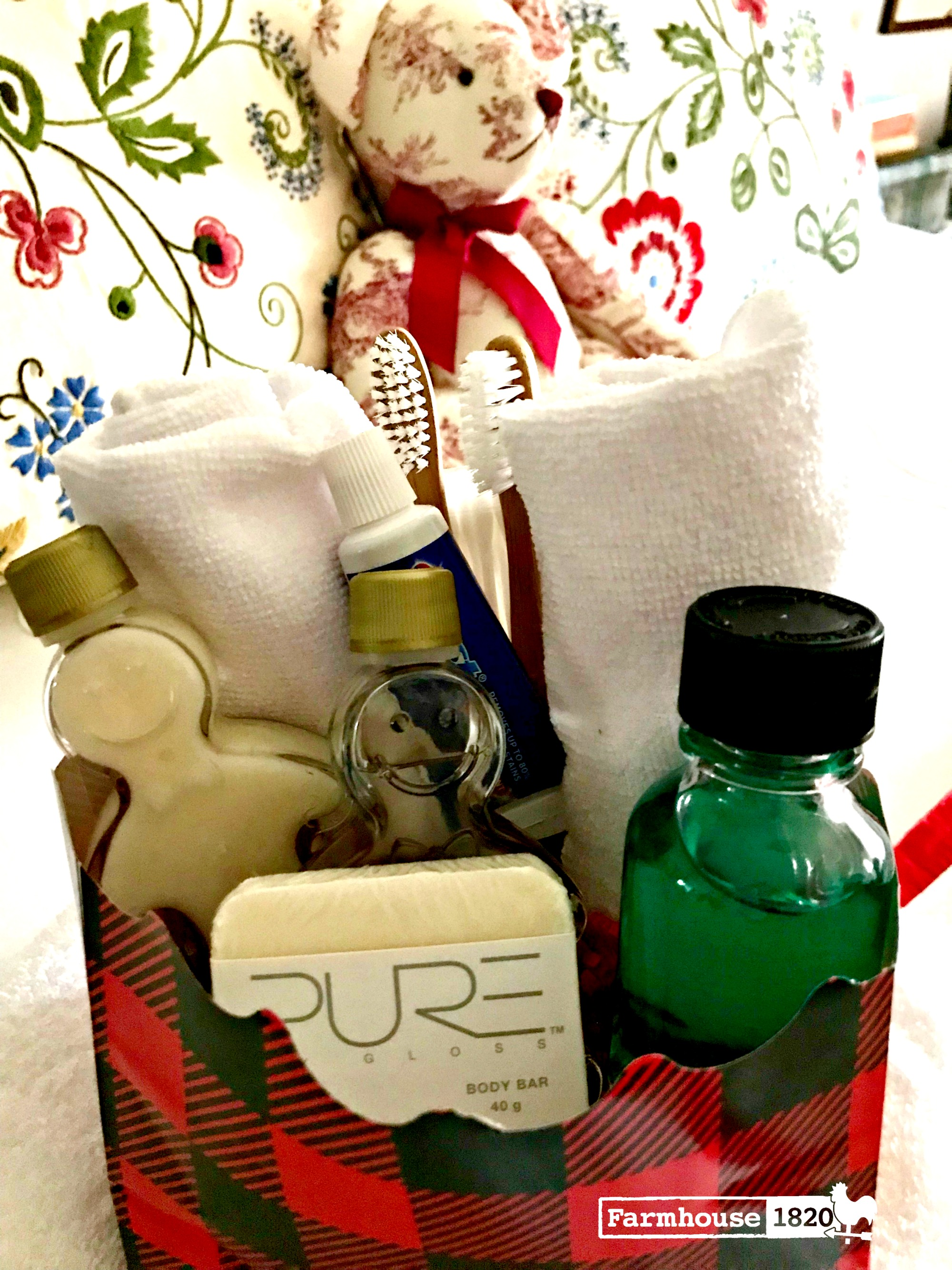 Holiday Guests - providing a toiletry bag for guests