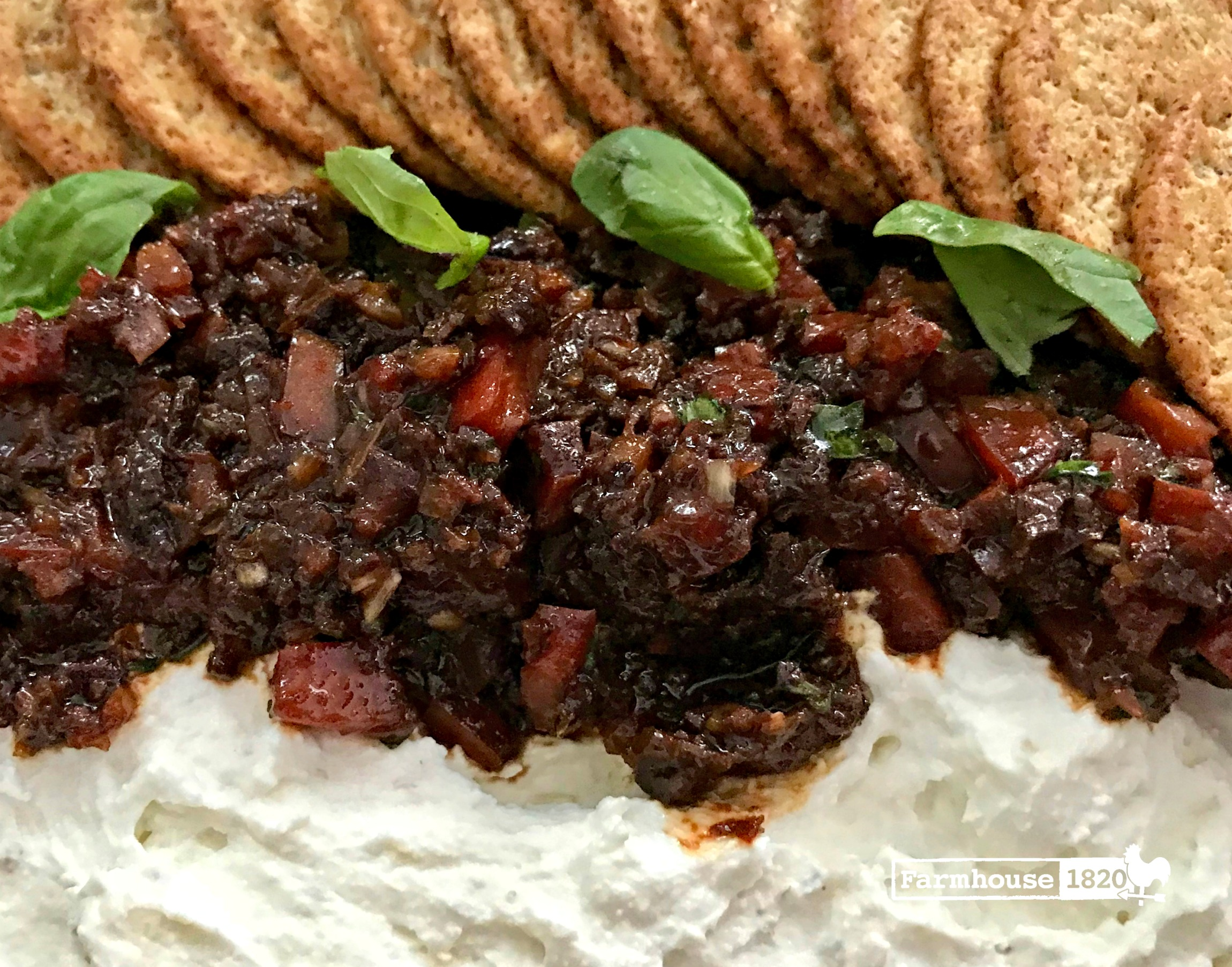 Ricotta Goat Cheese Spread with Sundried Tomato Salsa 2