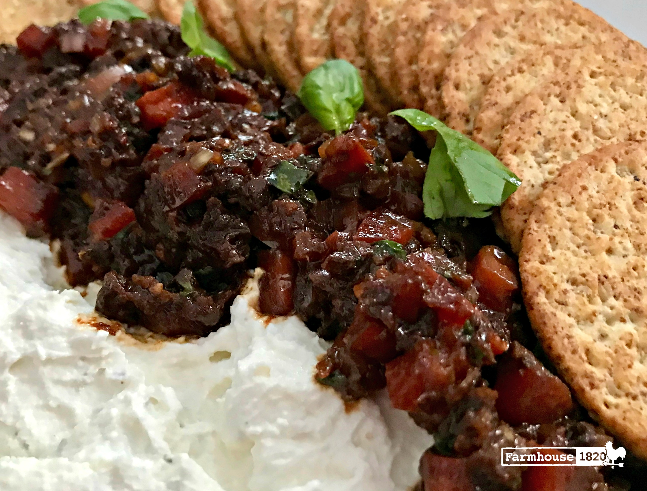 Ricotta Goat Cheese Spread With Sundried Tomato Salsa