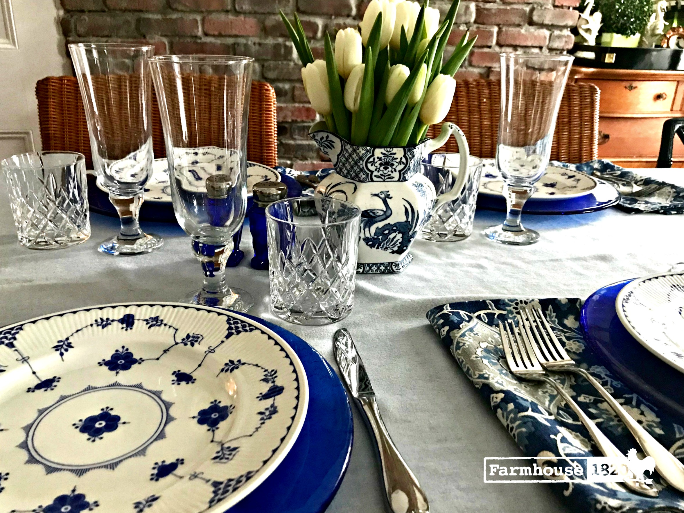 Winter blues - winter blues tablesetting