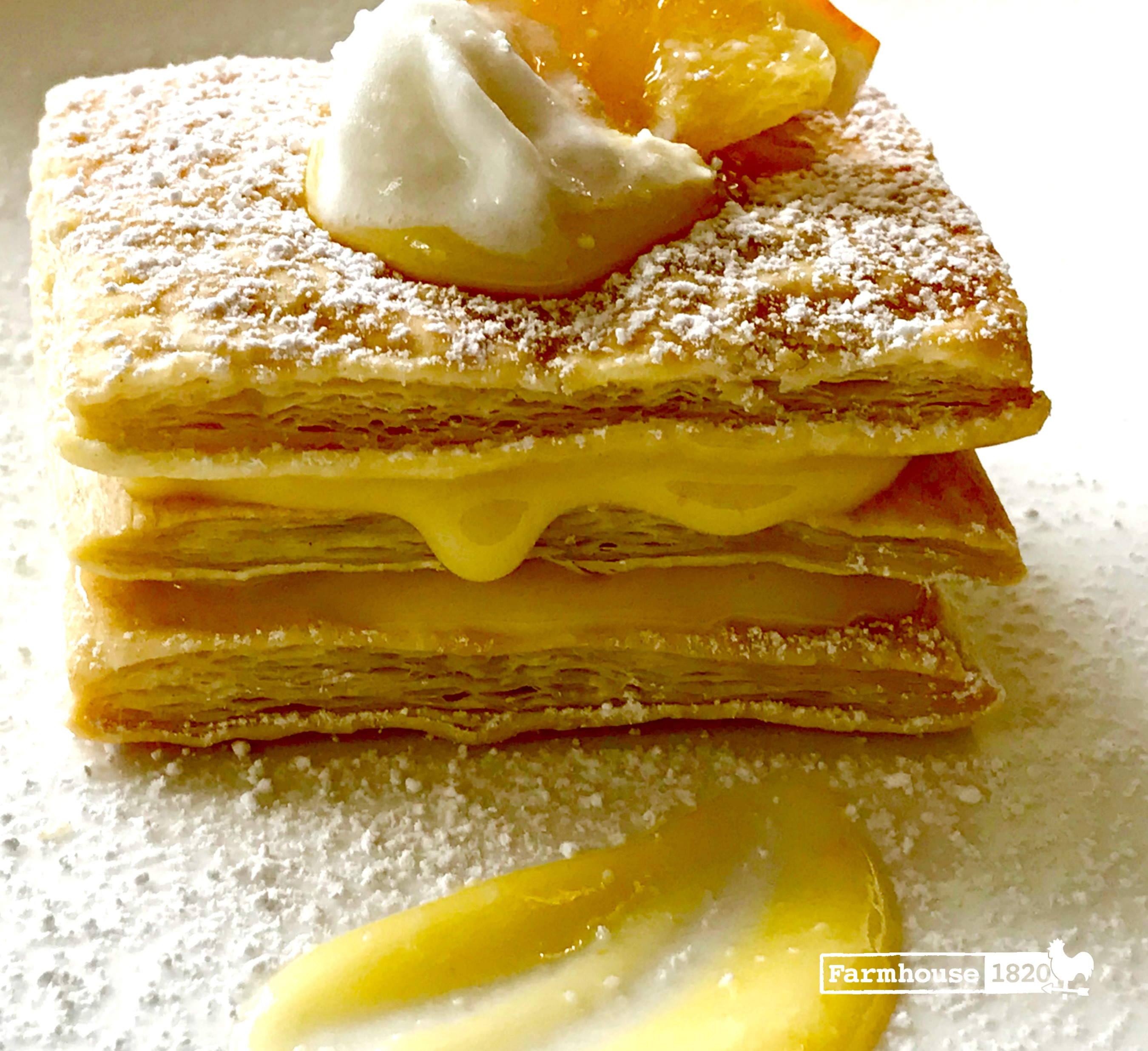 meyer lemon - homemade meyer lemon curd napoleon recipe