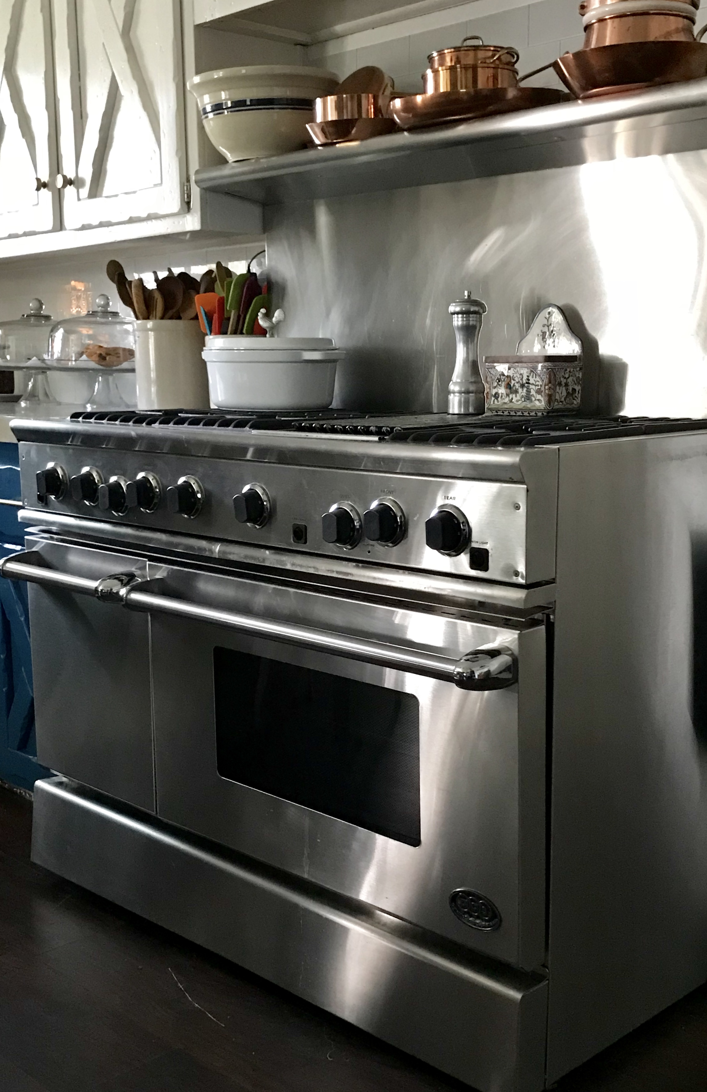 stove - a craigslist find, 48 DCS stove