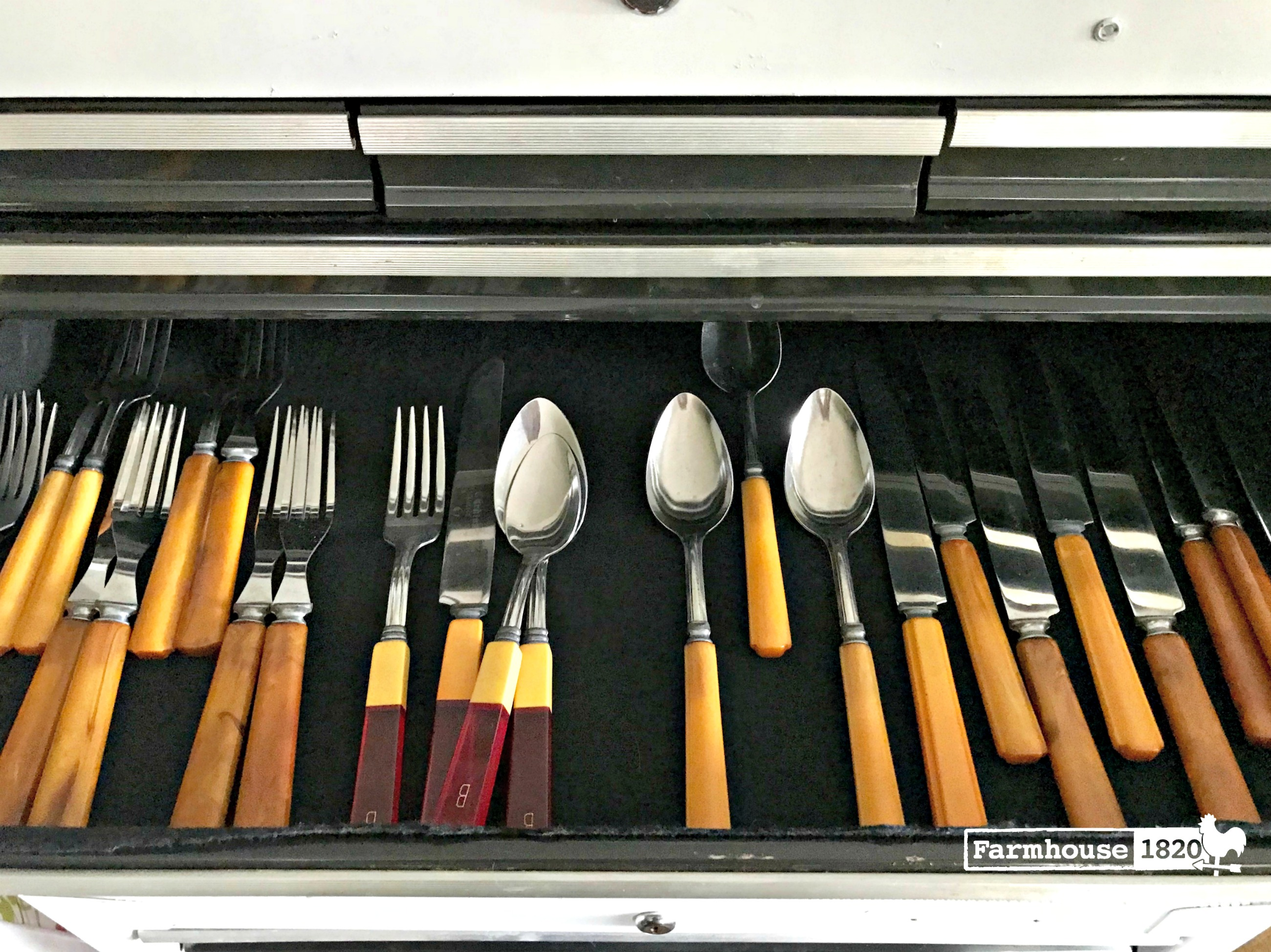 tool chest - storing a collection of flatware, serving pieces and silver