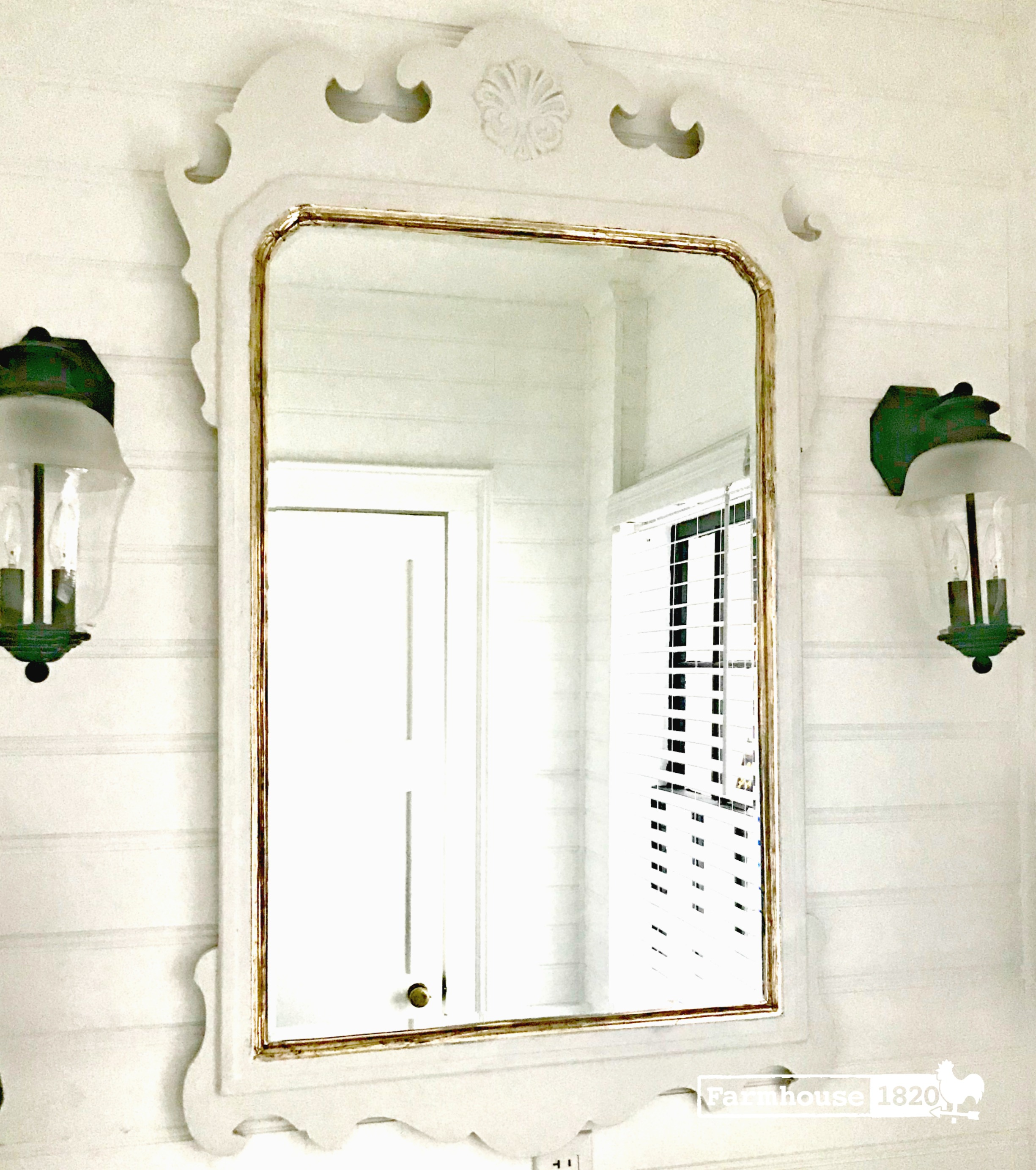 Brass tape - adding glitz to an antique mirror with brass tape