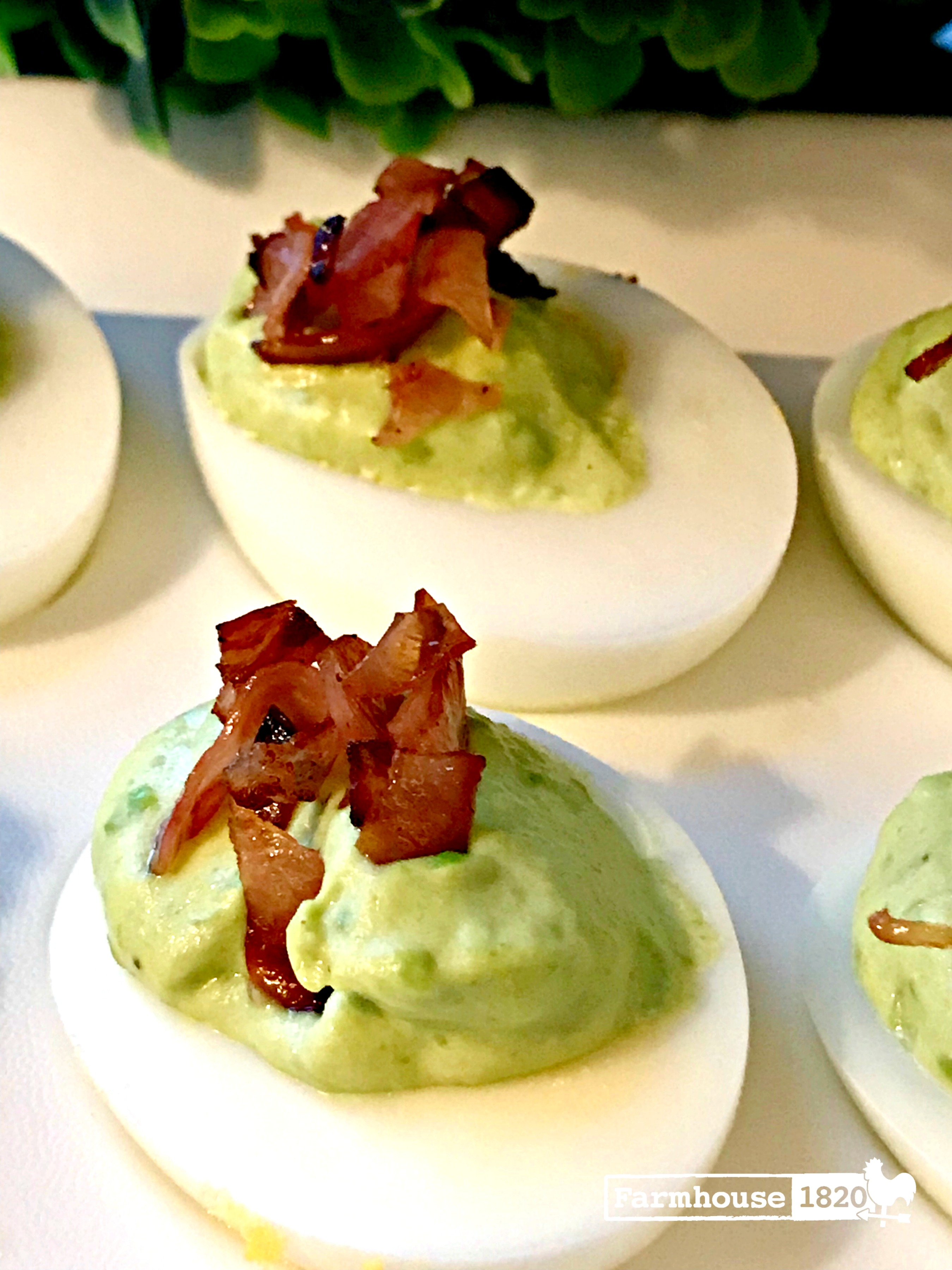 green eggs and ham - deviled eggs style