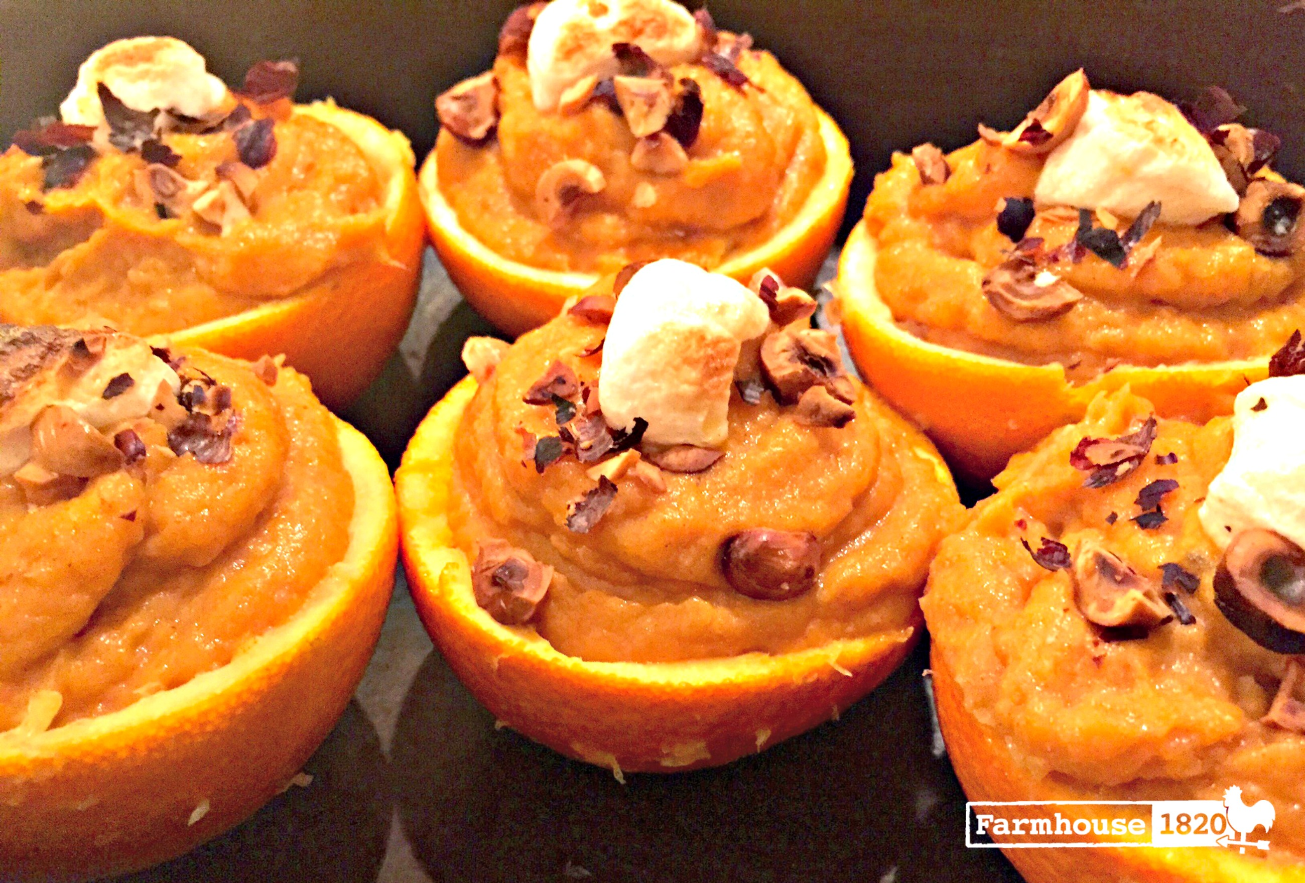 Thanksgiving sides - Mashed Sweet Potatoes in Orange Cups '19