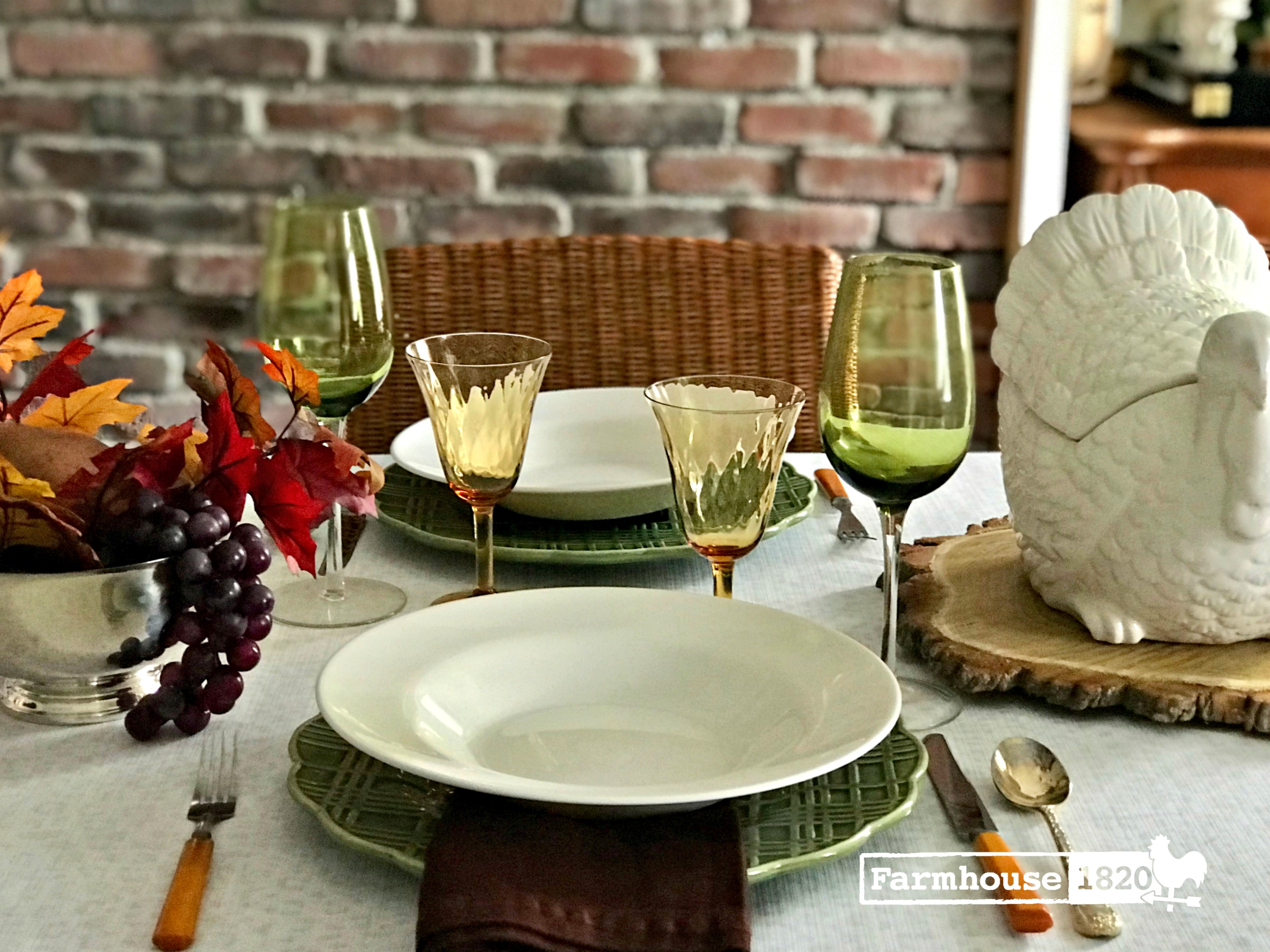 Thanksgiving table - Thanksgiving tablesetting inspiration