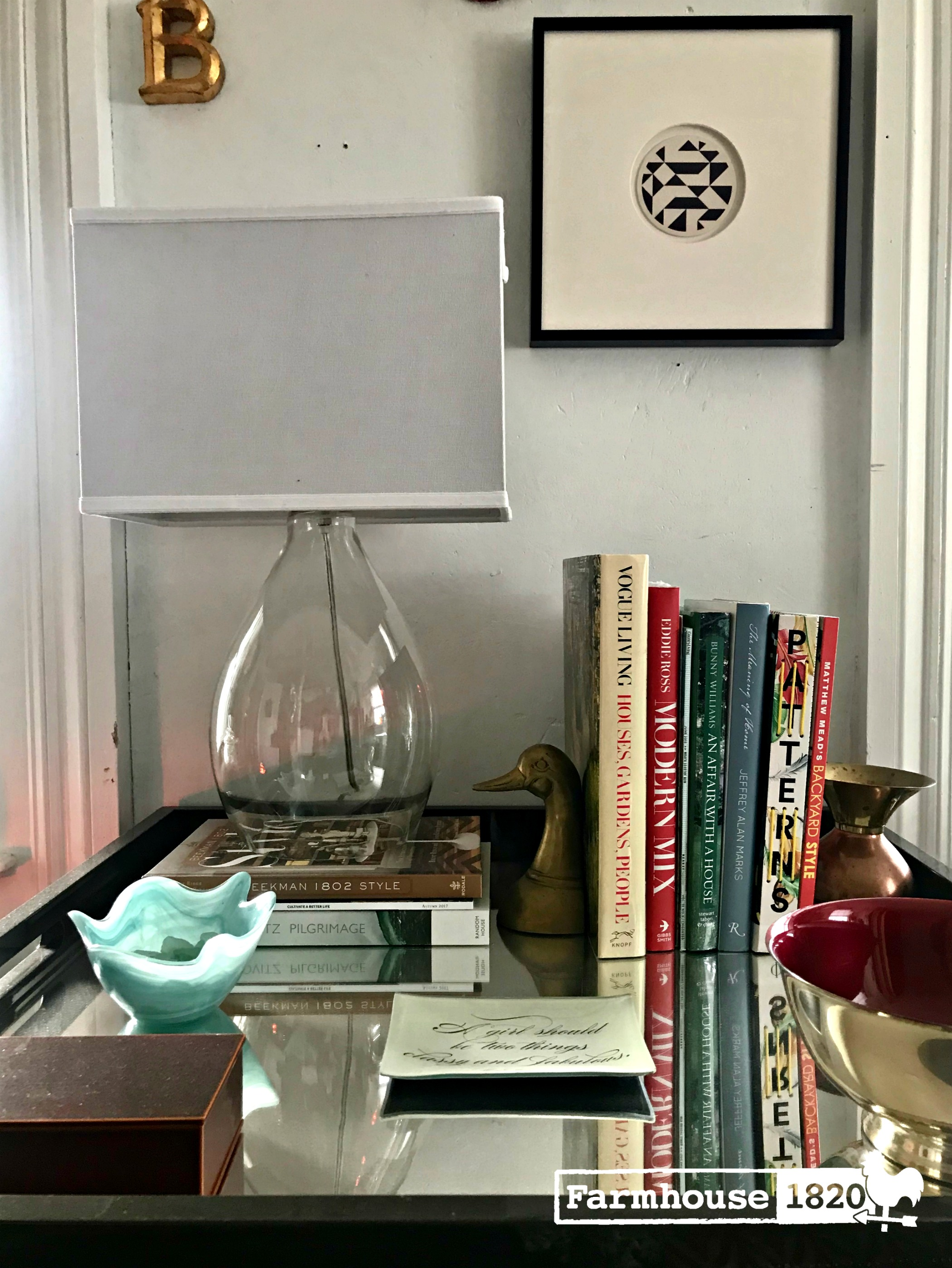 inspiration - how to design a table vignette