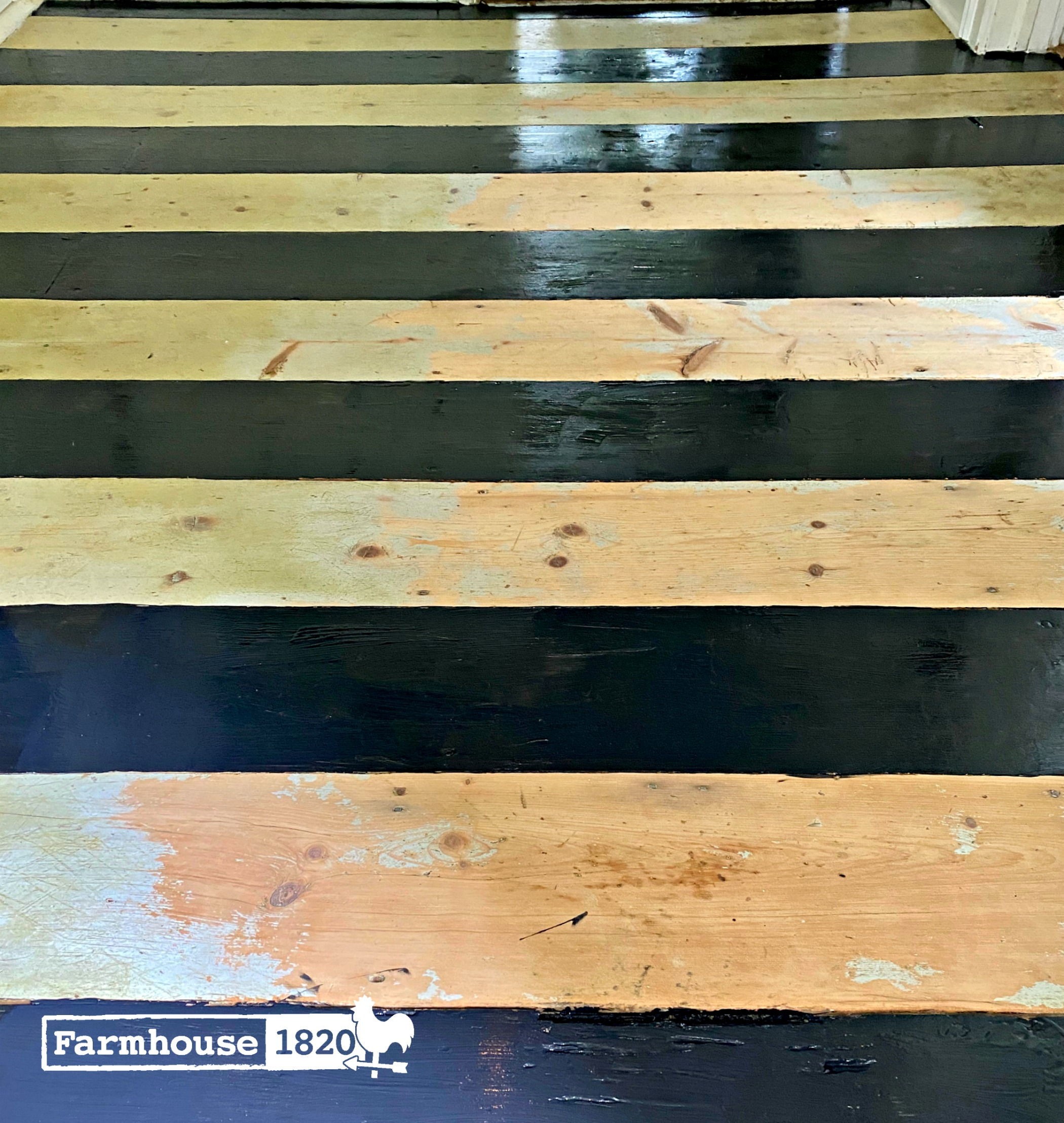 mudroom floor - the painting process