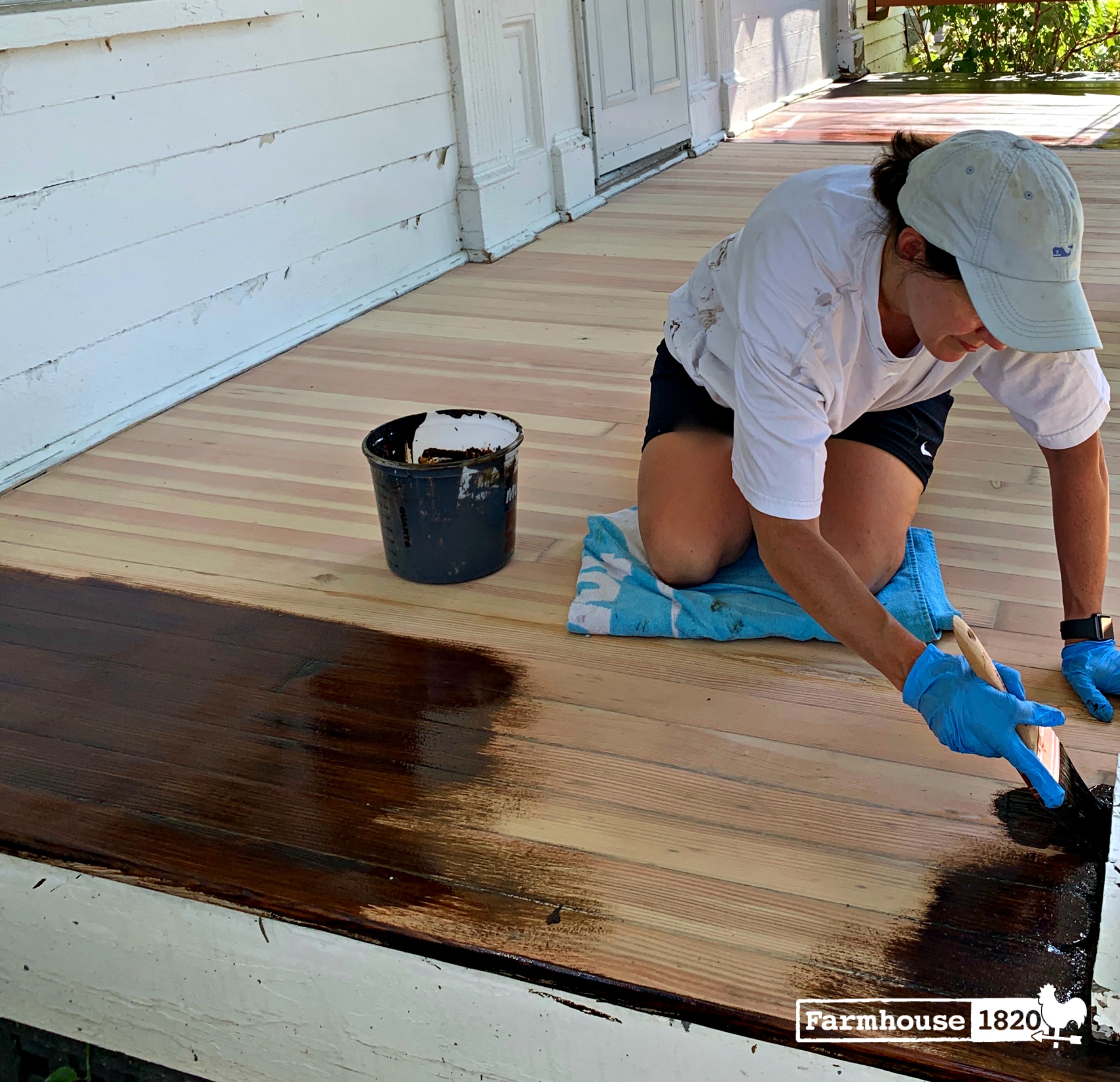 porch - how to stain the floor on a porch