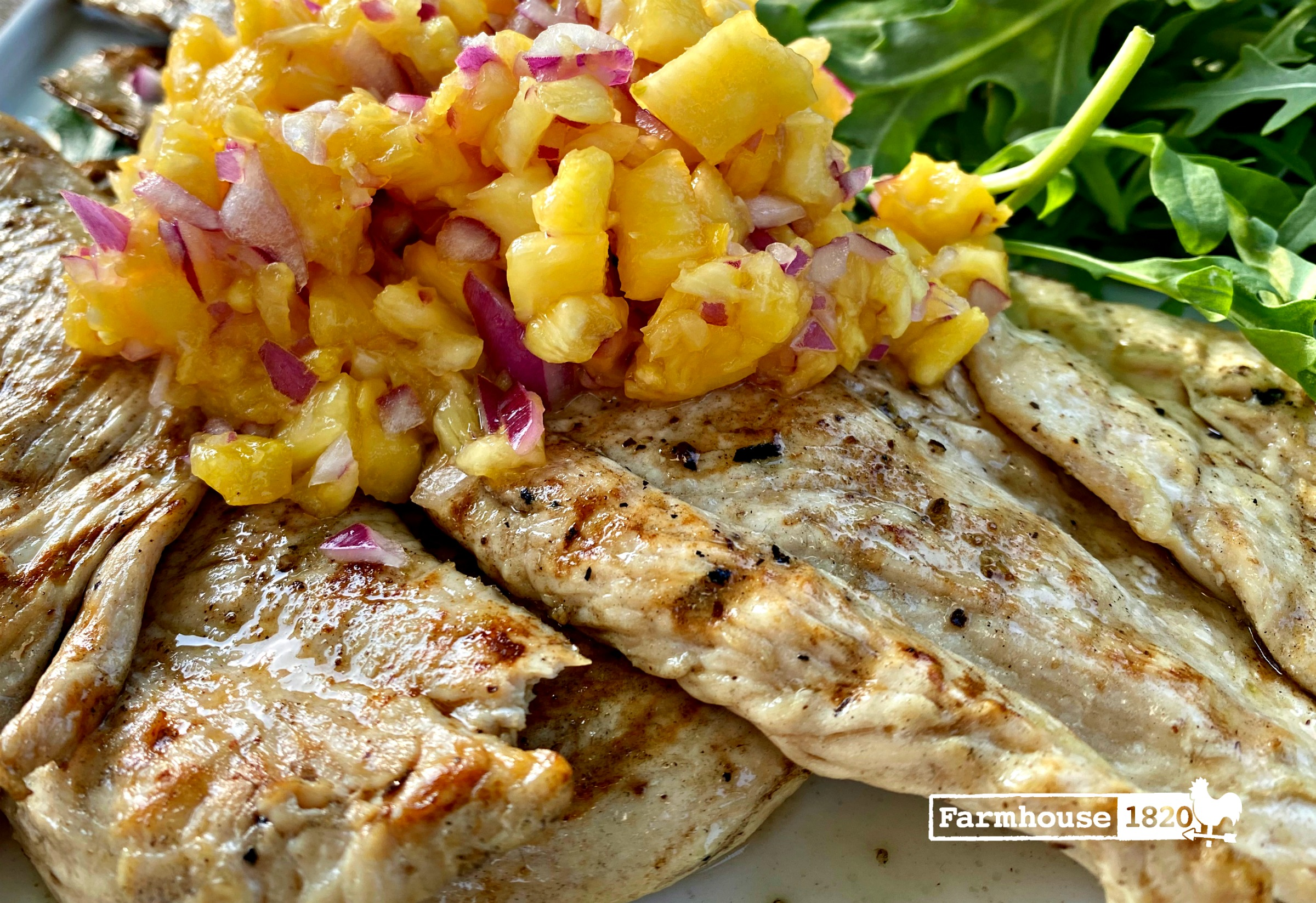 summer supper - grilled chicken with pinapple salsa in less than 15 minutes