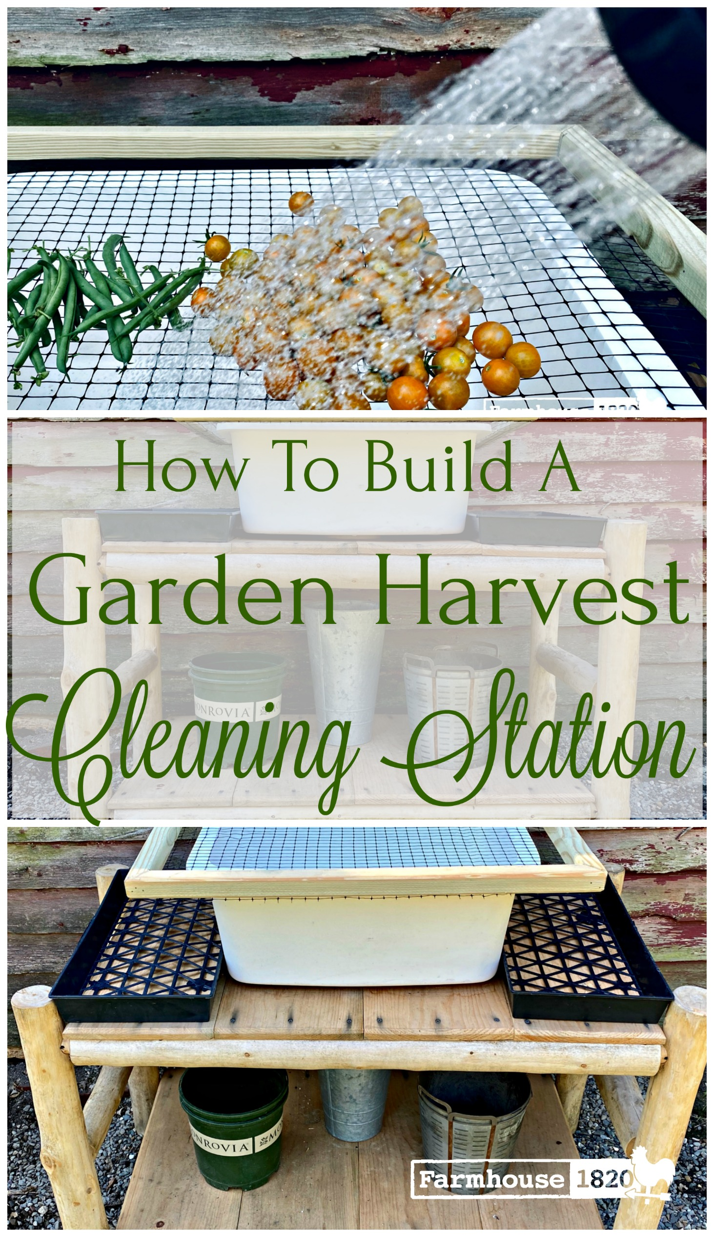Pinterest - garden harvest cleaning station