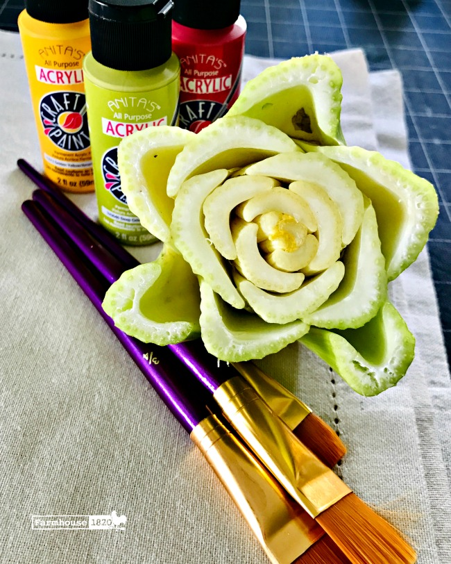 craft - materials needed for a stamp craft using celery core